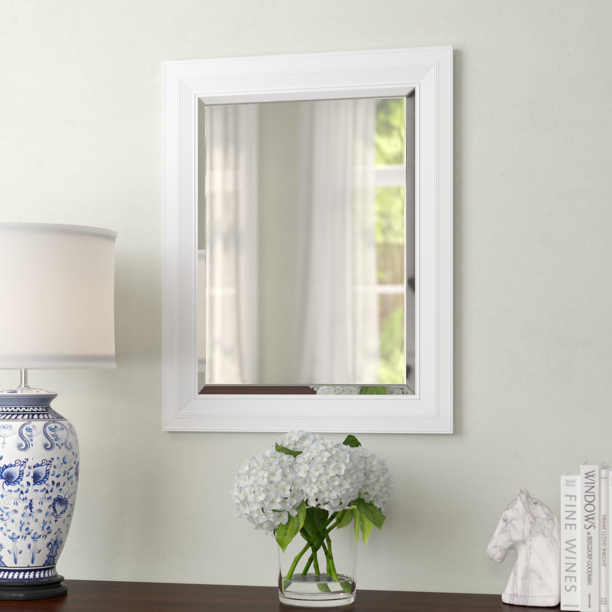 Giovanni Classic Decorative Traditional Beveled Accent Mirror intended for Longwood Rustic Beveled Accent Mirrors (Image 9 of 30)