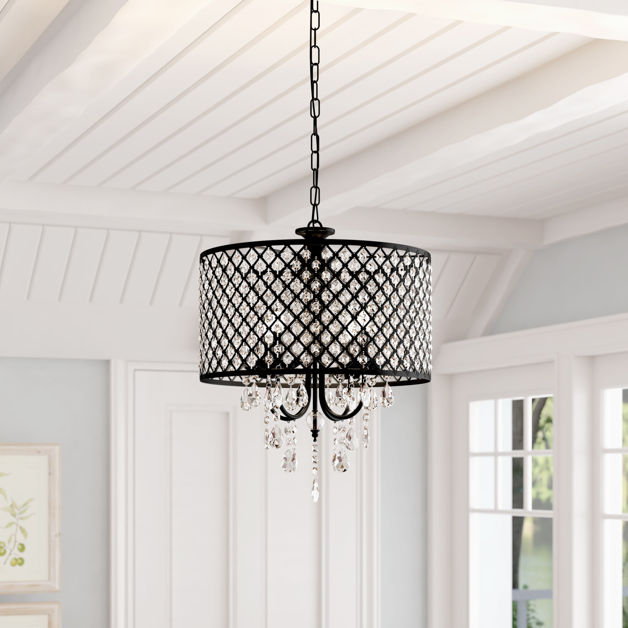 Featured Photo of Gisselle 4 Light Drum Chandeliers