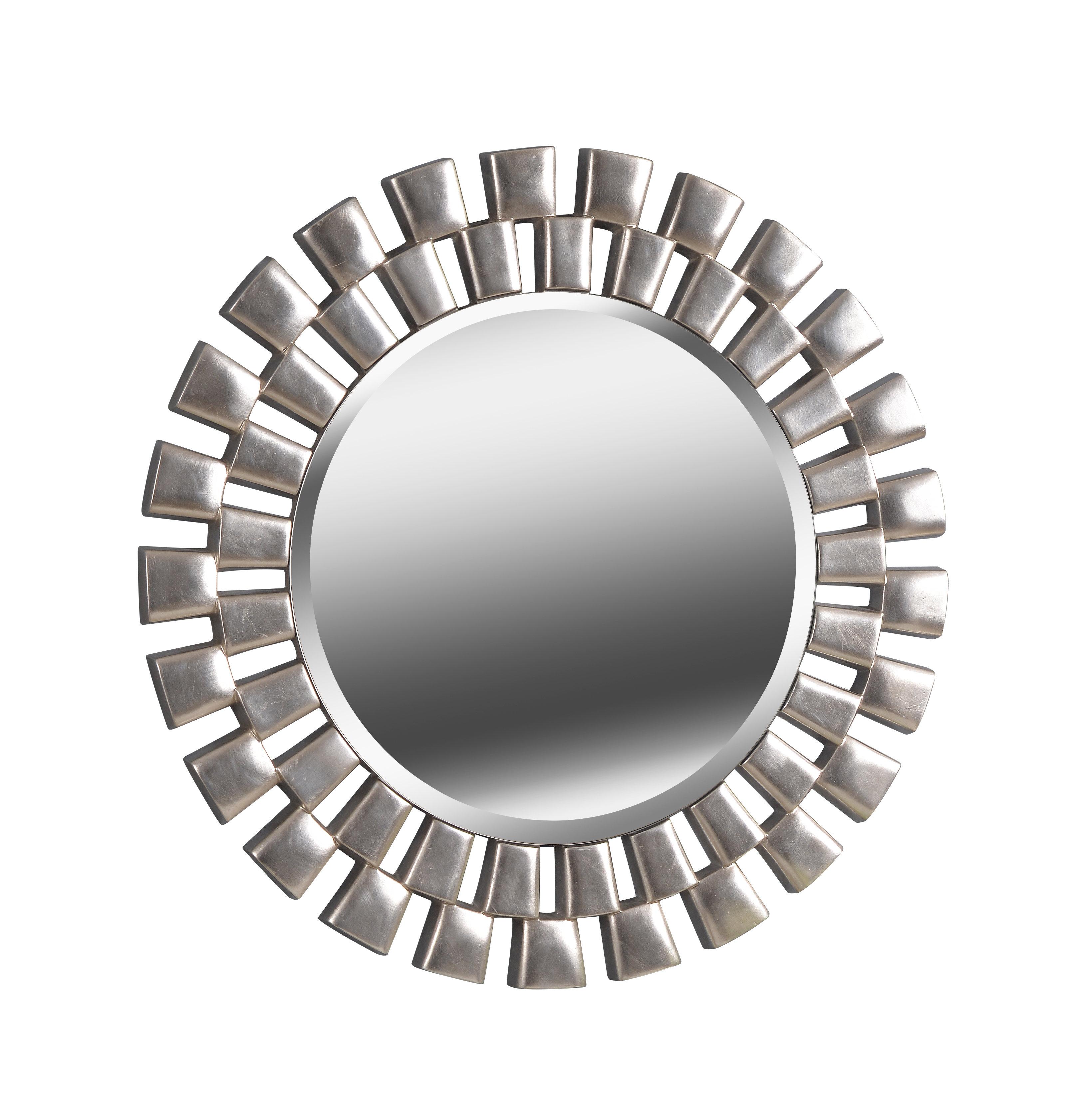 Glam Beveled Accent Mirror Pertaining To Tata Openwork Round Wall Mirrors (View 17 of 30)