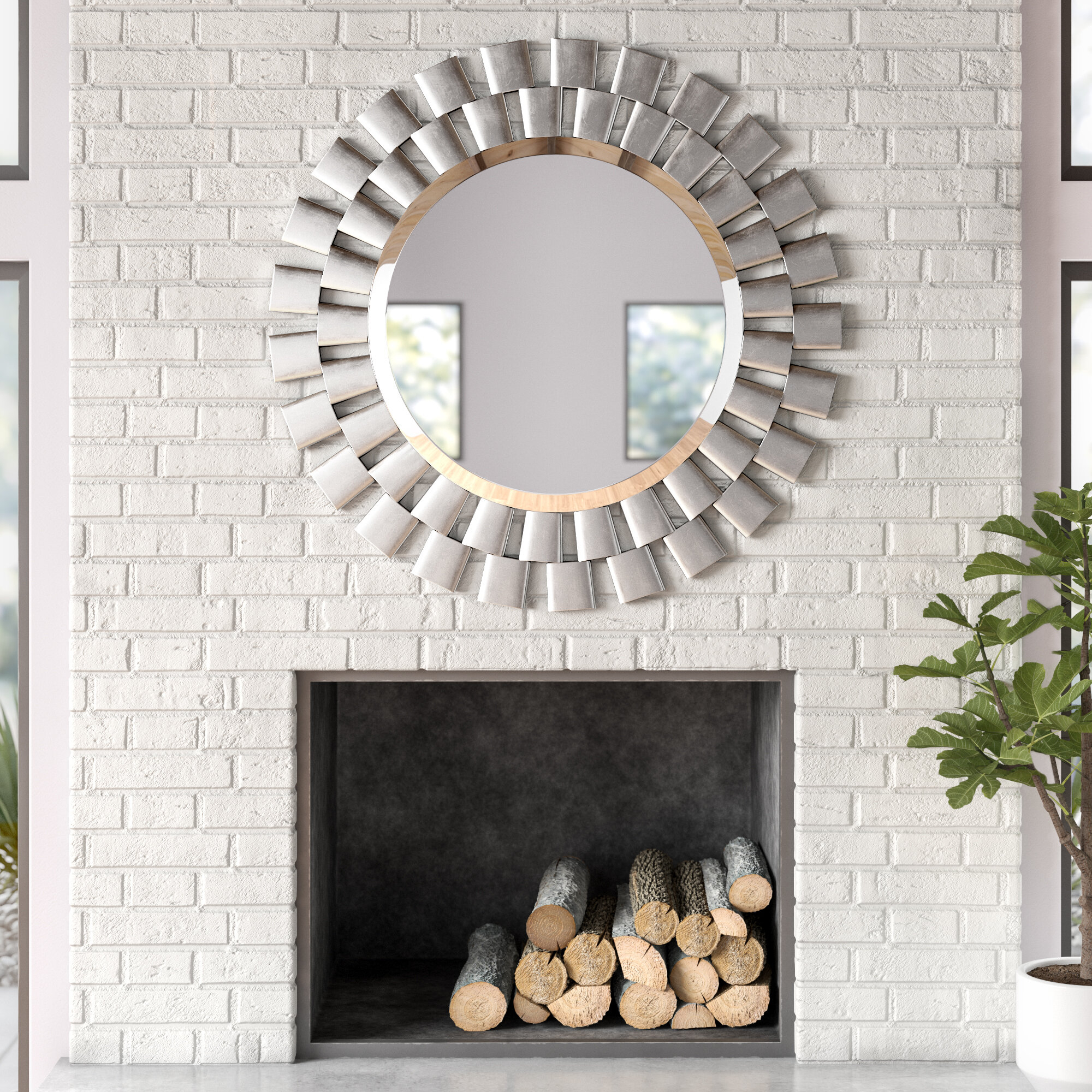 Glam Beveled Accent Mirror with Josephson Starburst Glam Beveled Accent Wall Mirrors (Image 7 of 22)