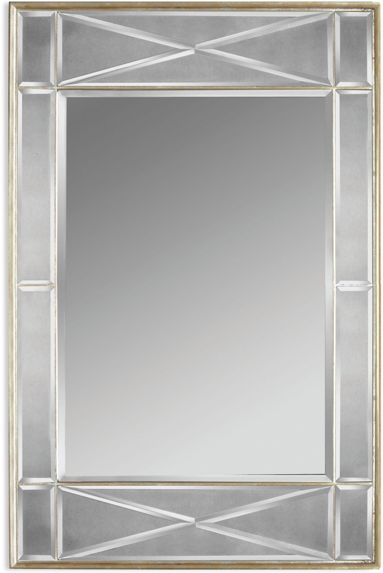 Glam Silver Leaf Campagna Wall Mirror In Glam Beveled Accent Mirrors (View 12 of 30)