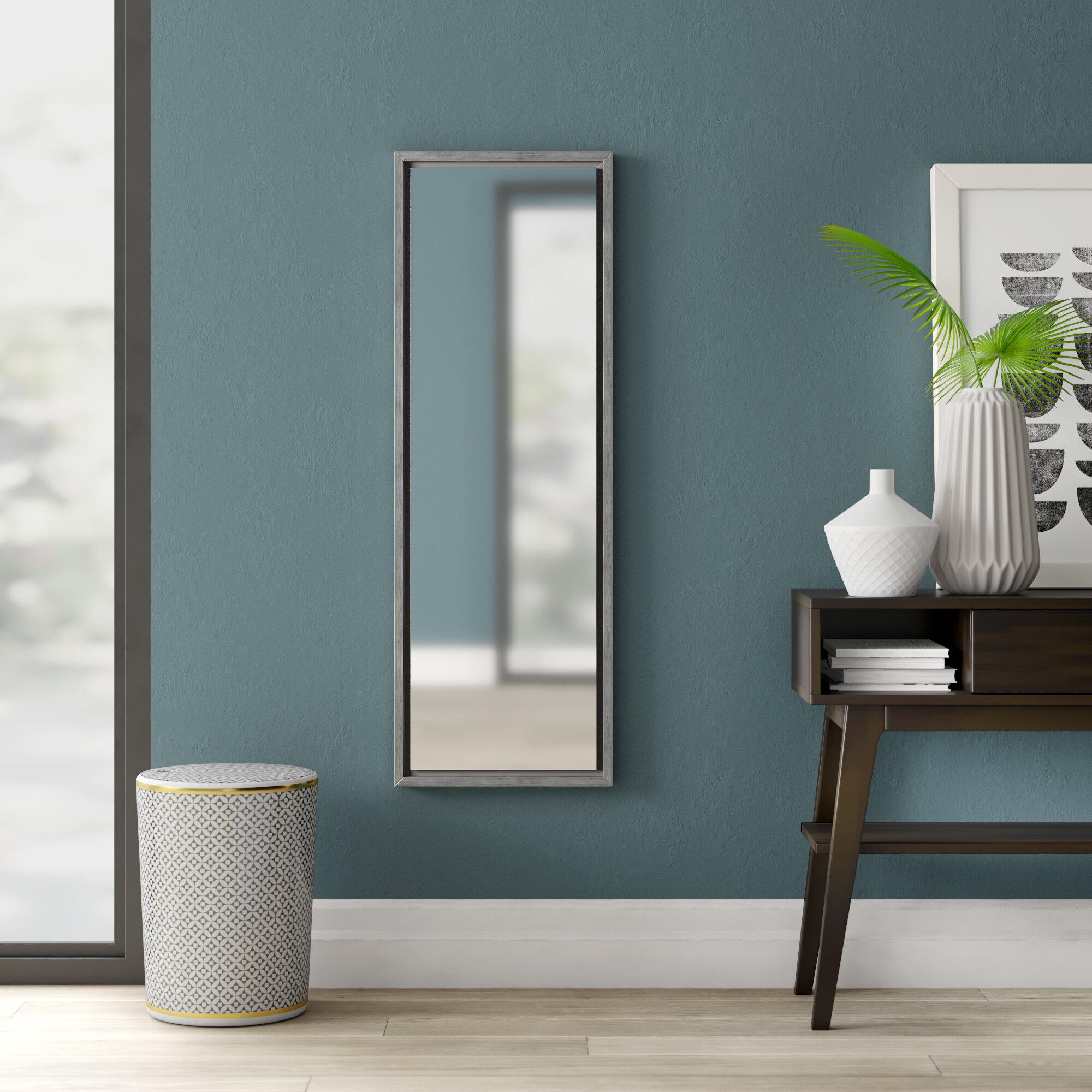 Glass Framed Mirror | Wayfair Inside Caja Rectangle Glass Frame Wall Mirrors (View 10 of 30)