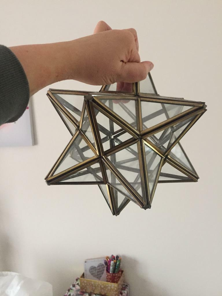 Glass Star Lamp Shade | In Southampton, Hampshire | Gumtree in Millbrook 5-Light Shaded Chandeliers (Image 8 of 30)