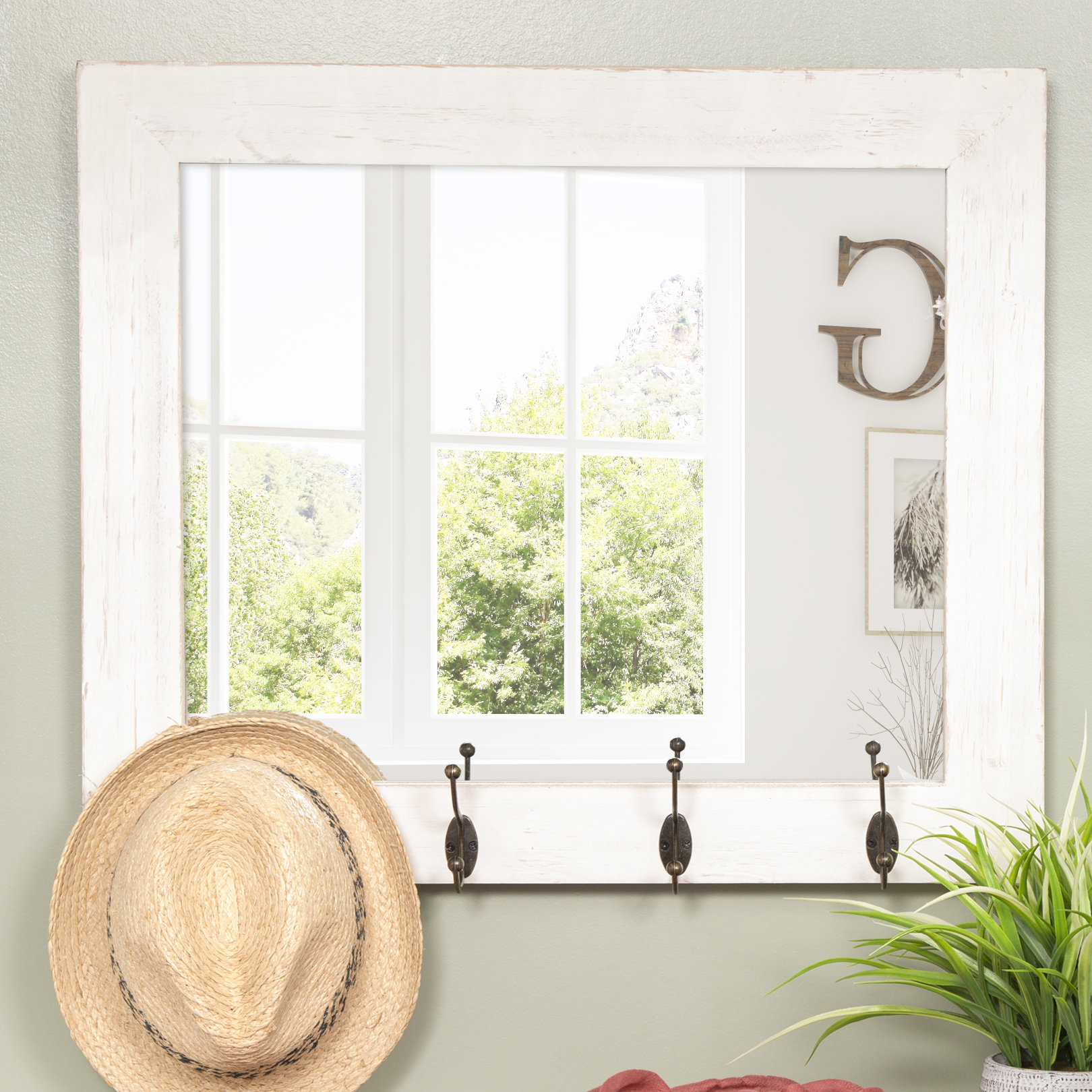 Glaucia Rustic Entryway Accent Mirror In Rena Accent Mirrors (View 17 of 30)