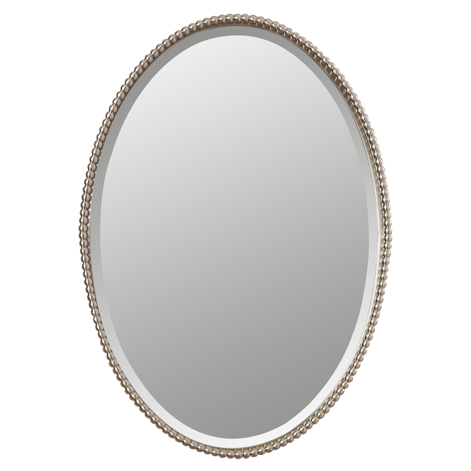 Glen View Beaded Oval Traditional Accent Mirror Within Beaded Accent Wall Mirrors (View 15 of 30)