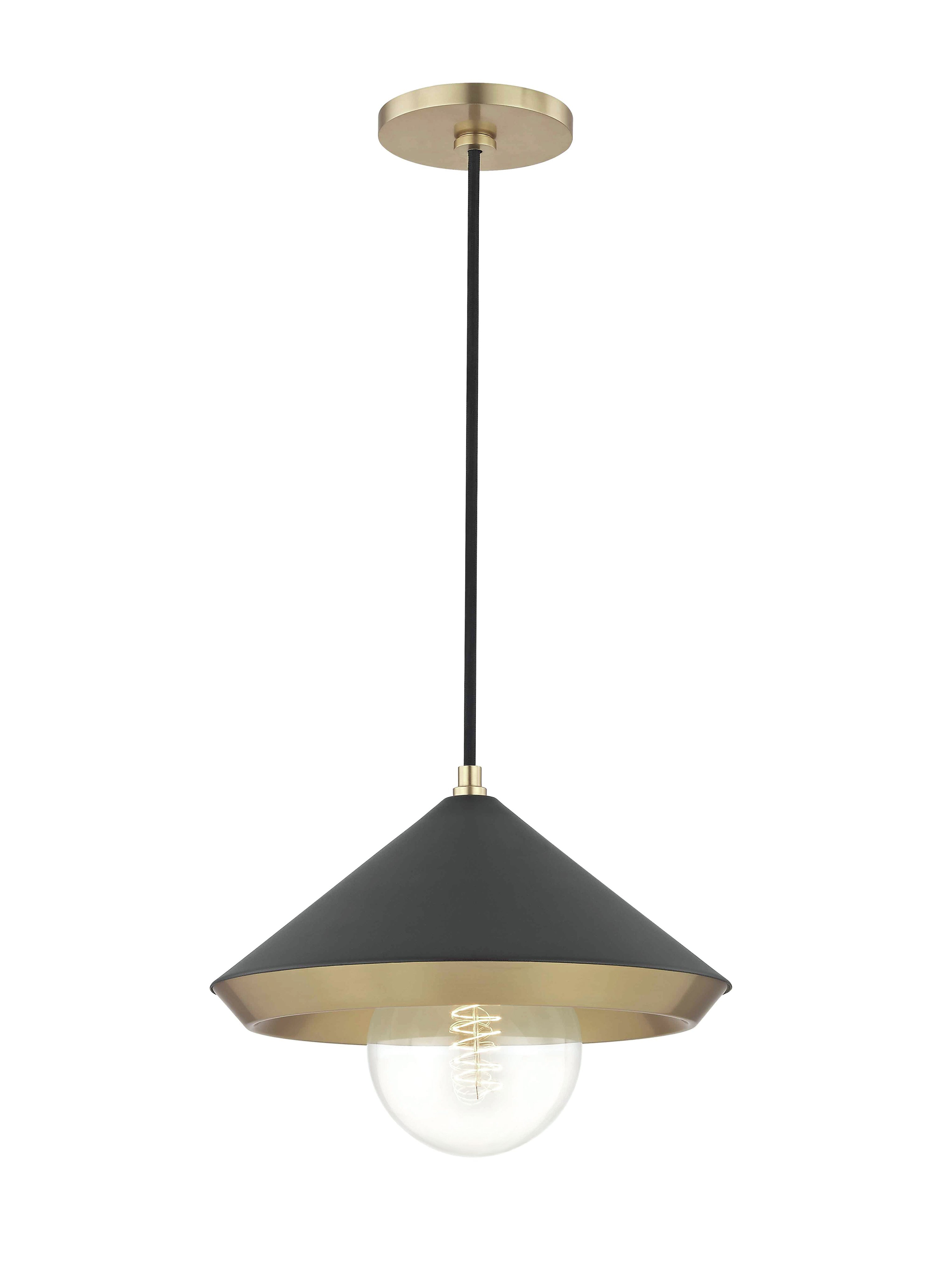 Glendale Heights 1-Light Cone Pendant regarding Conover 1-Light Dome Pendants (Image 15 of 30)