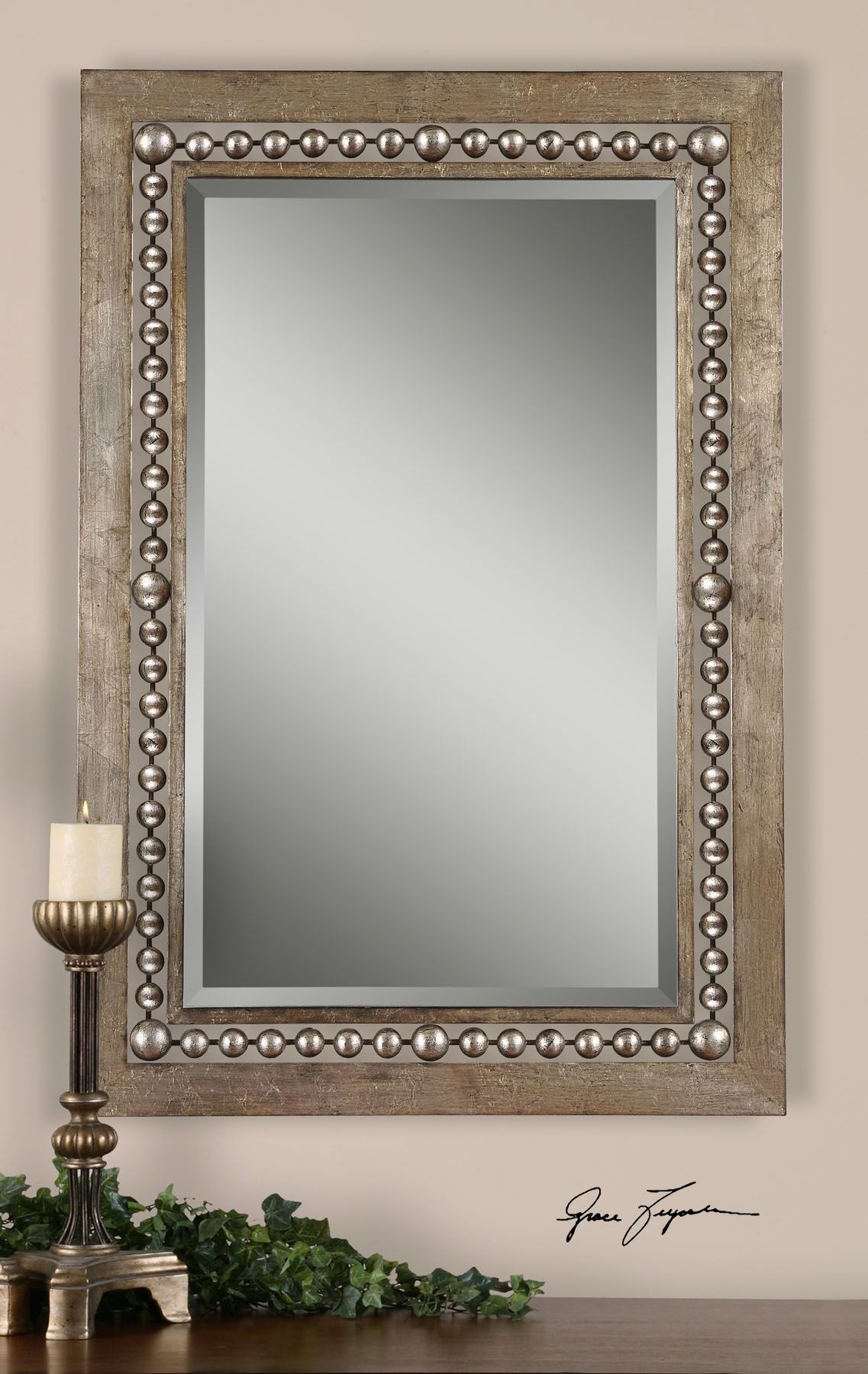 Global Inspired Metal Wall Mirror | Mirrors | Silver Wall For Wall Decor By World Menagerie (View 9 of 30)