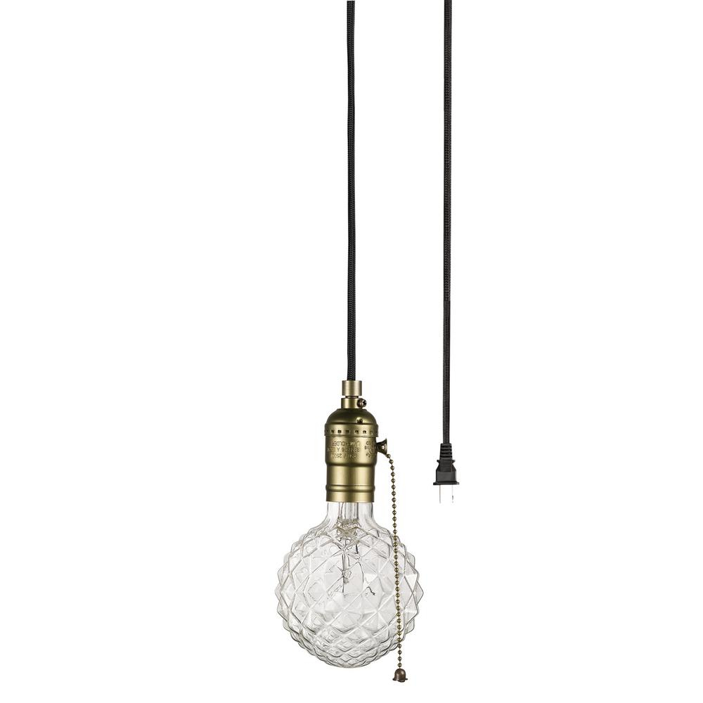 Globe Electric Edison 1 Light Matte Bronze And Black Pendant With Vintage Edison 1 Light Bowl Pendants (View 5 of 30)
