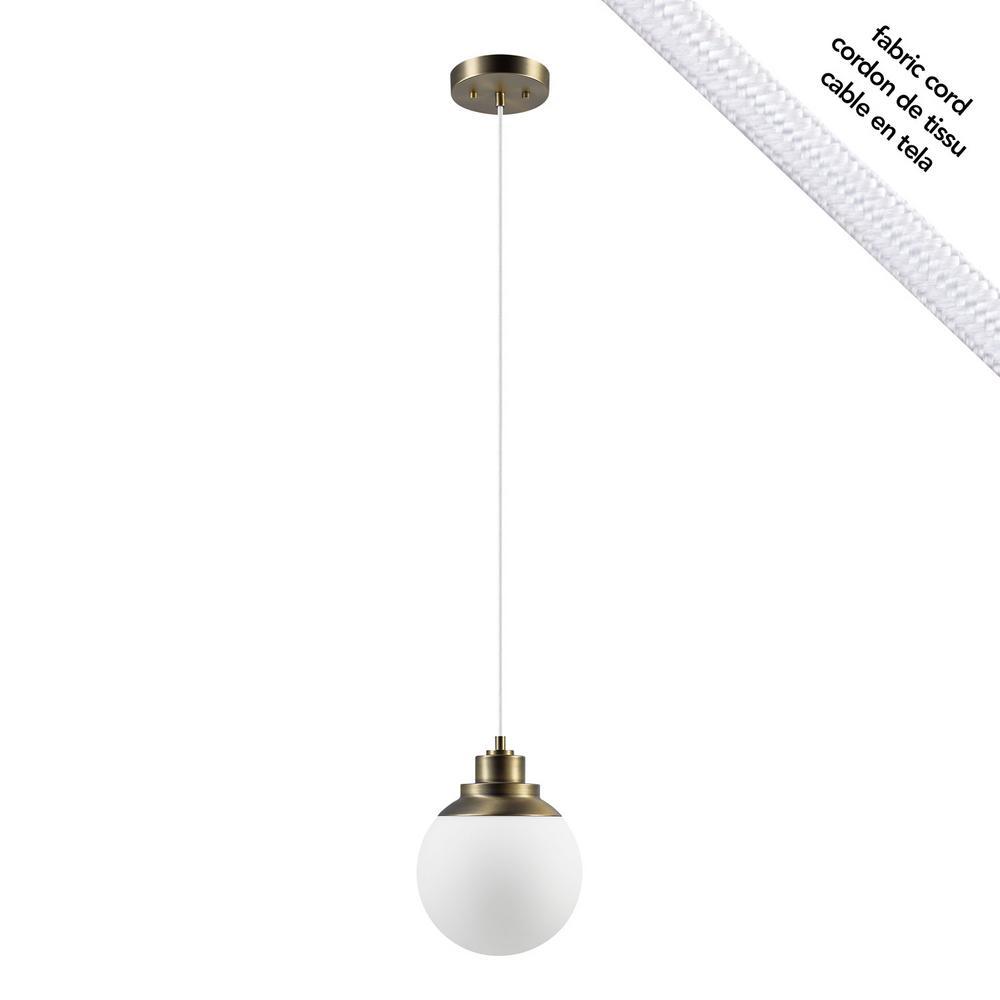 Globe Electric Portland 1 Light Brass Pendant In 1 Light Globe Pendants (View 17 of 30)