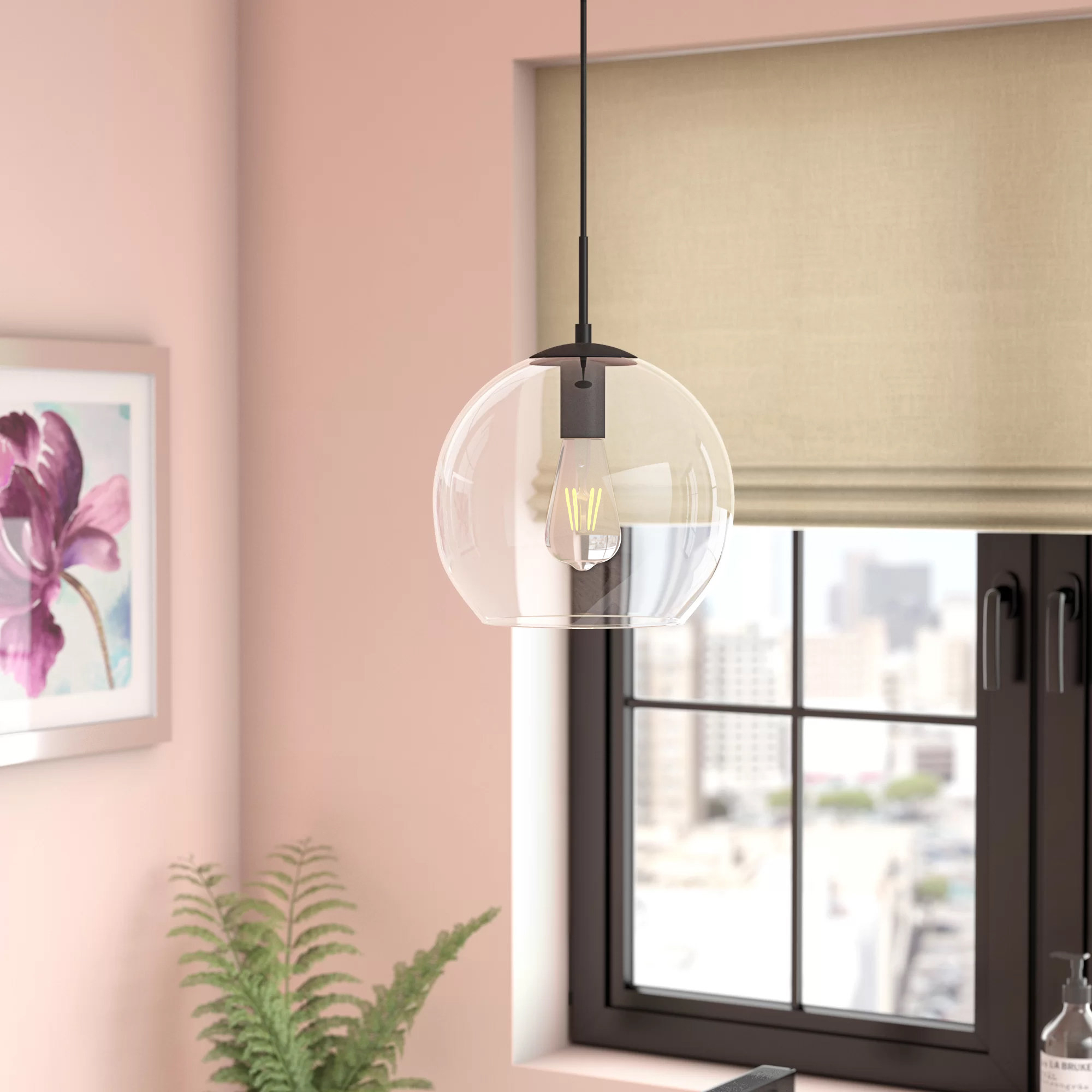 "Globe Mini (less Than 10"" Wide) Pendant Lighting You'll Love Intended For Devereaux 1 Light Single Globe Pendants (View 17 of 30)"