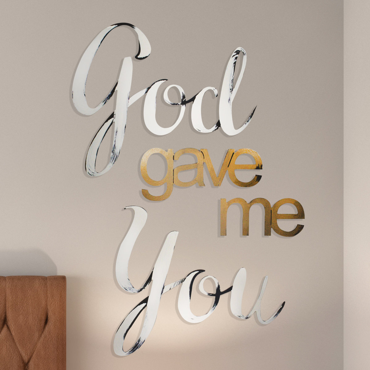 "God Gave Me You Wall Décor regarding Mccue 11.5"" Typewriter Text Wall Decor (Image 14 of 30)"
