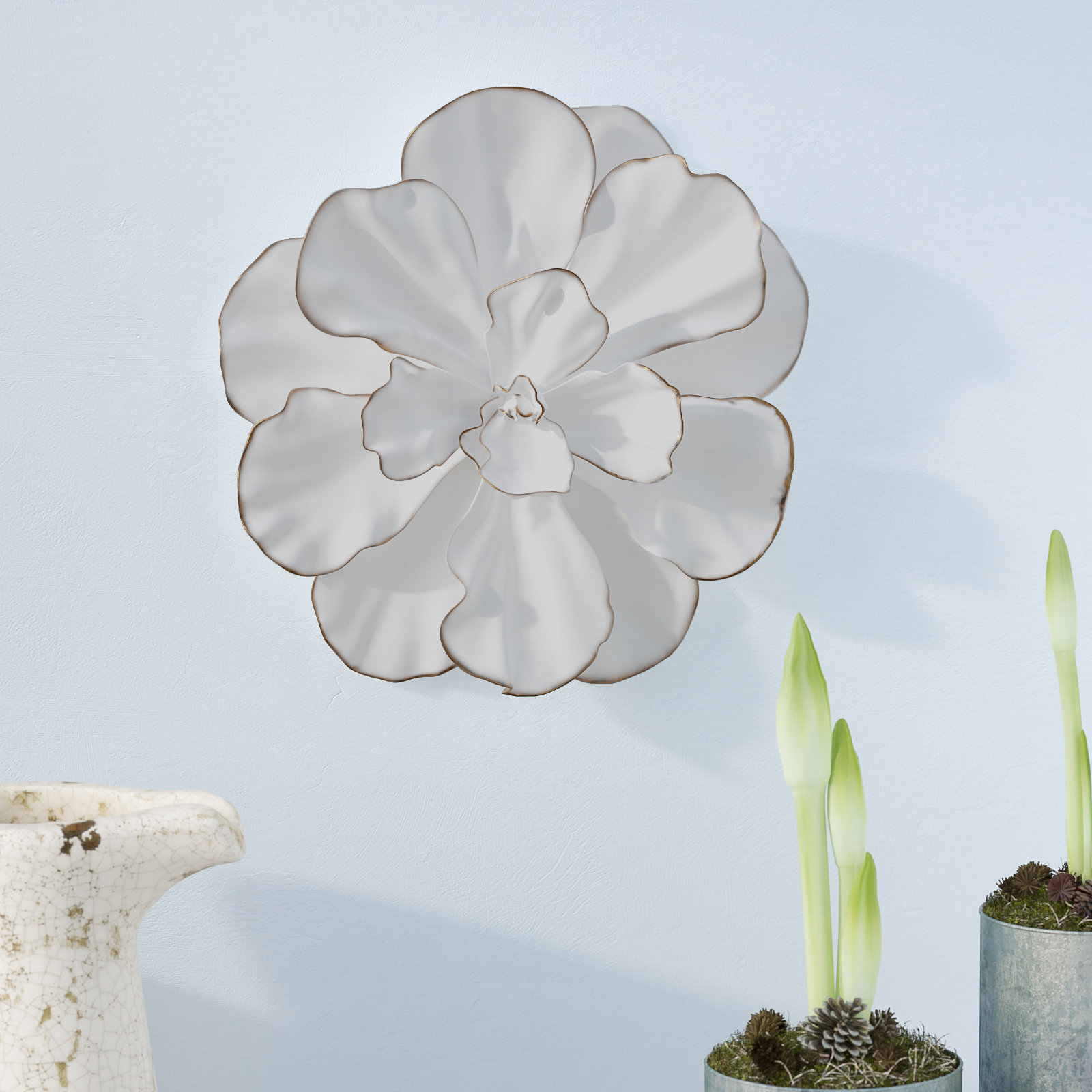 Gold Flower Wall Decor   Wayfair Within Three Flowers On Vine Wall Decor (View 11 of 30)