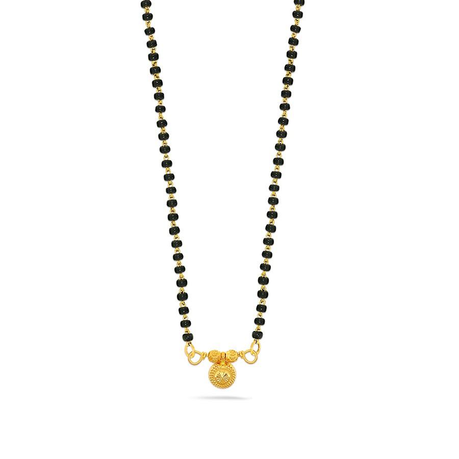 Gold Mangalsutra – Buy Designer Gold Mangalsutra Online In Regarding Melora 1 Light Single Geometric Pendants (View 11 of 30)