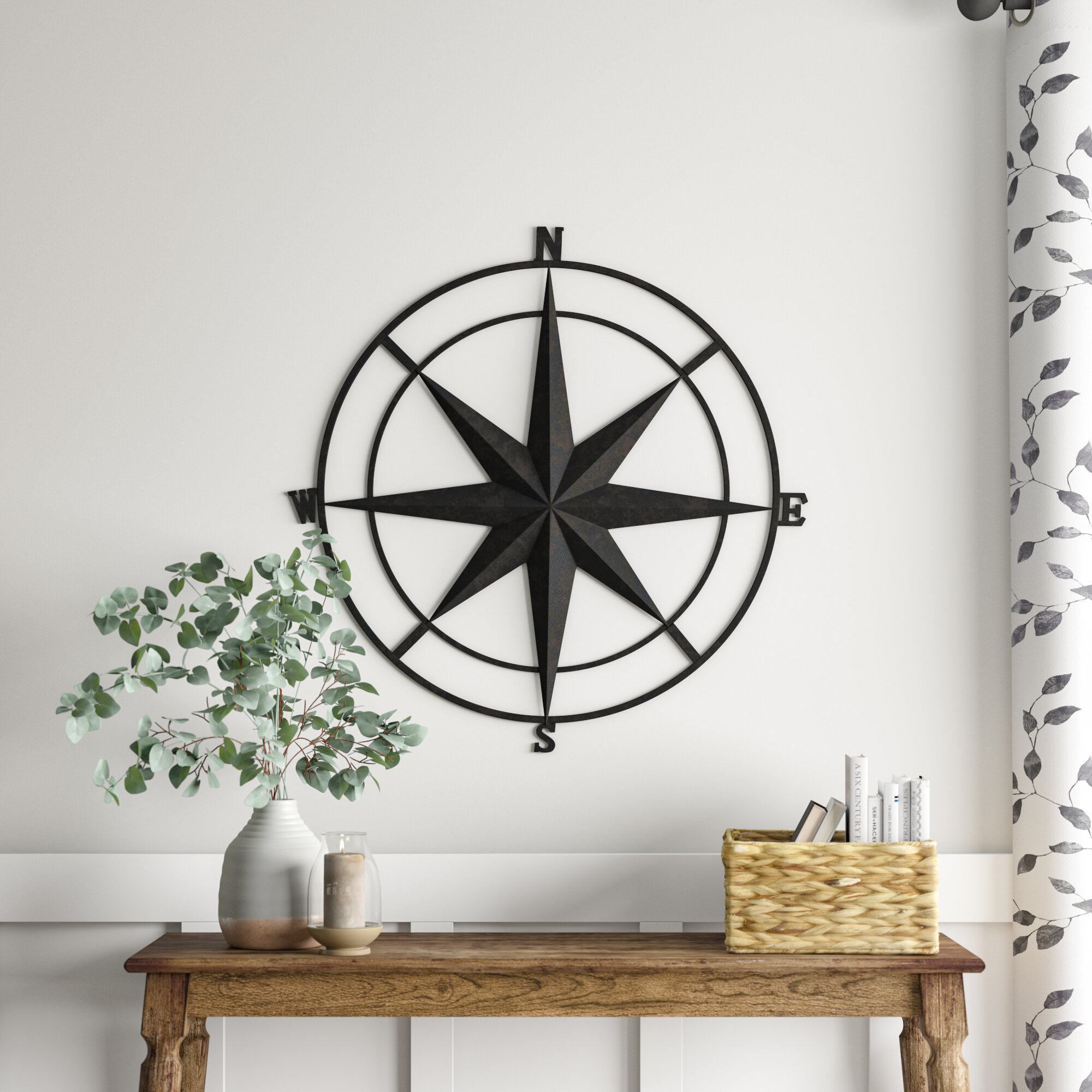 Gold Metal Wall Art You'll Love In 2019 | Wayfair.ca regarding Outdoor Metal Wall Compass (Image 20 of 30)