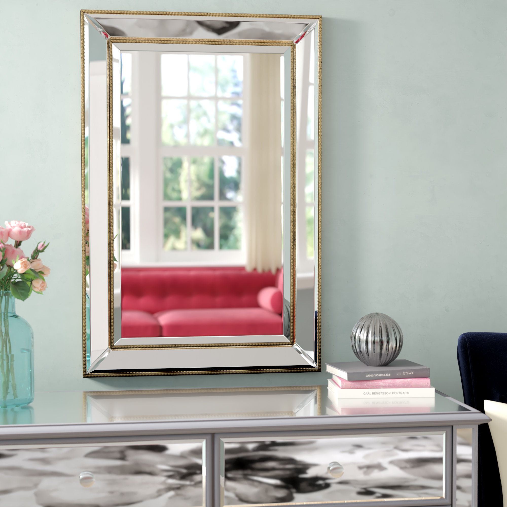 Gold Rectangle Wall Mirrors You'll Love In 2019 | Wayfair regarding Boyers Wall Mirrors (Image 20 of 30)