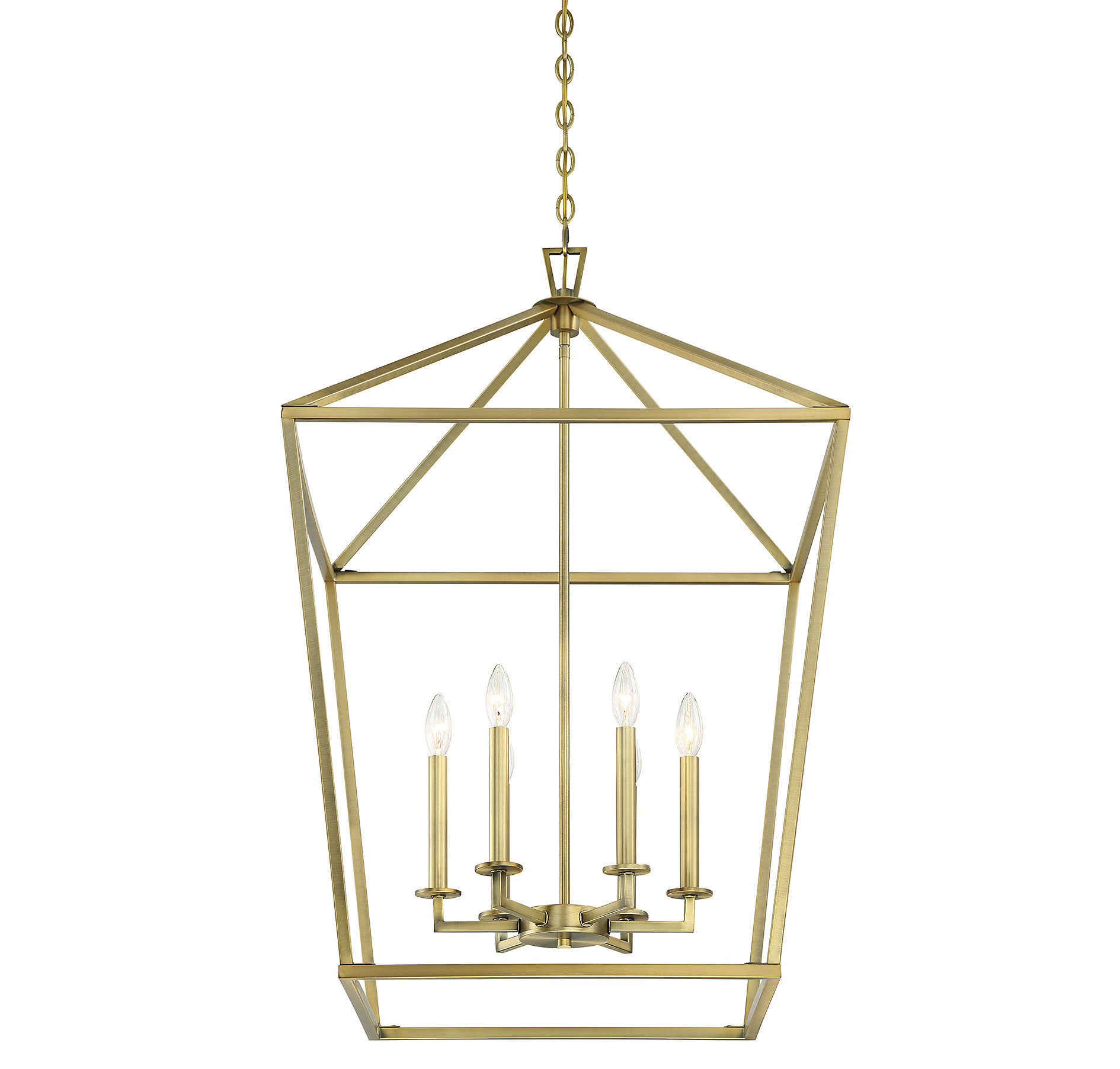 Gold Shade Foyer Pendants | Joss & Main inside Isoline 2-Light Lantern Geometric Pendants (Image 10 of 30)
