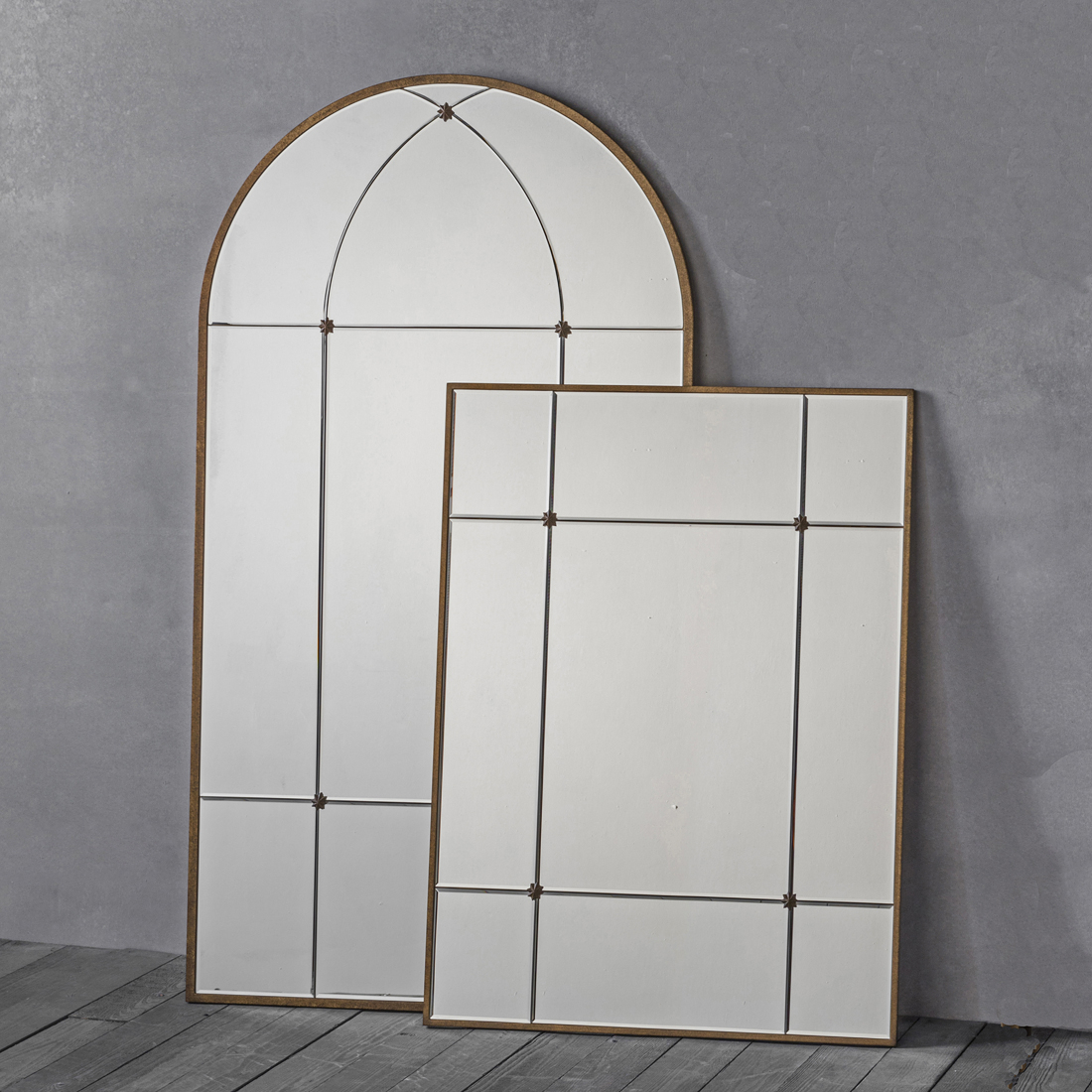 Gold Window Wall Mirror – Arch Or Rectangle Intended For Gold Arch Wall Mirrors (View 15 of 30)