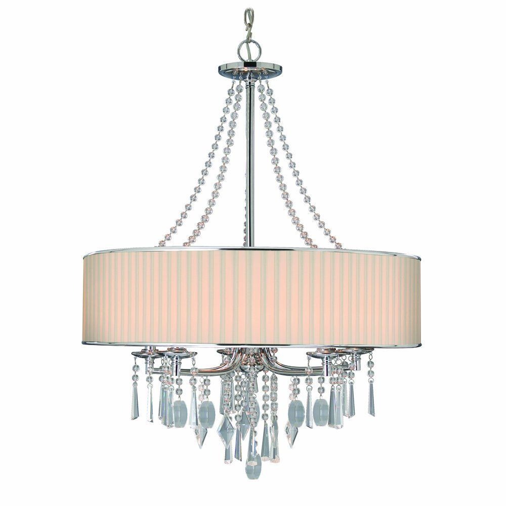Golden Lighting 89815Bri Chandelier With Crystal And Bridal Intended For Abel 5 Light Drum Chandeliers (Image 14 of 30)