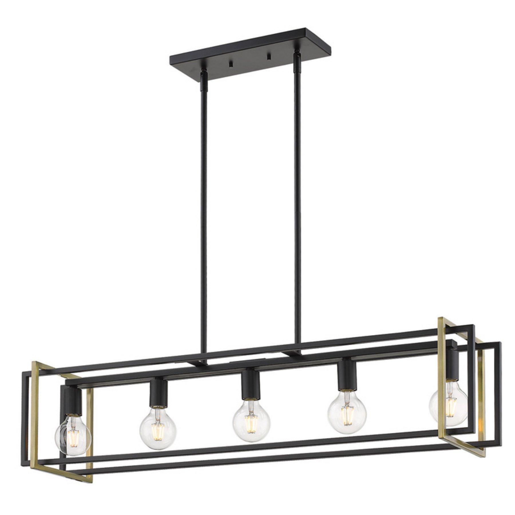 Golden Lighting Tribeca 6070 Lp Linear Pendant Light Within Bouvet 5 Light Kitchen Island Linear Pendants (View 19 of 30)