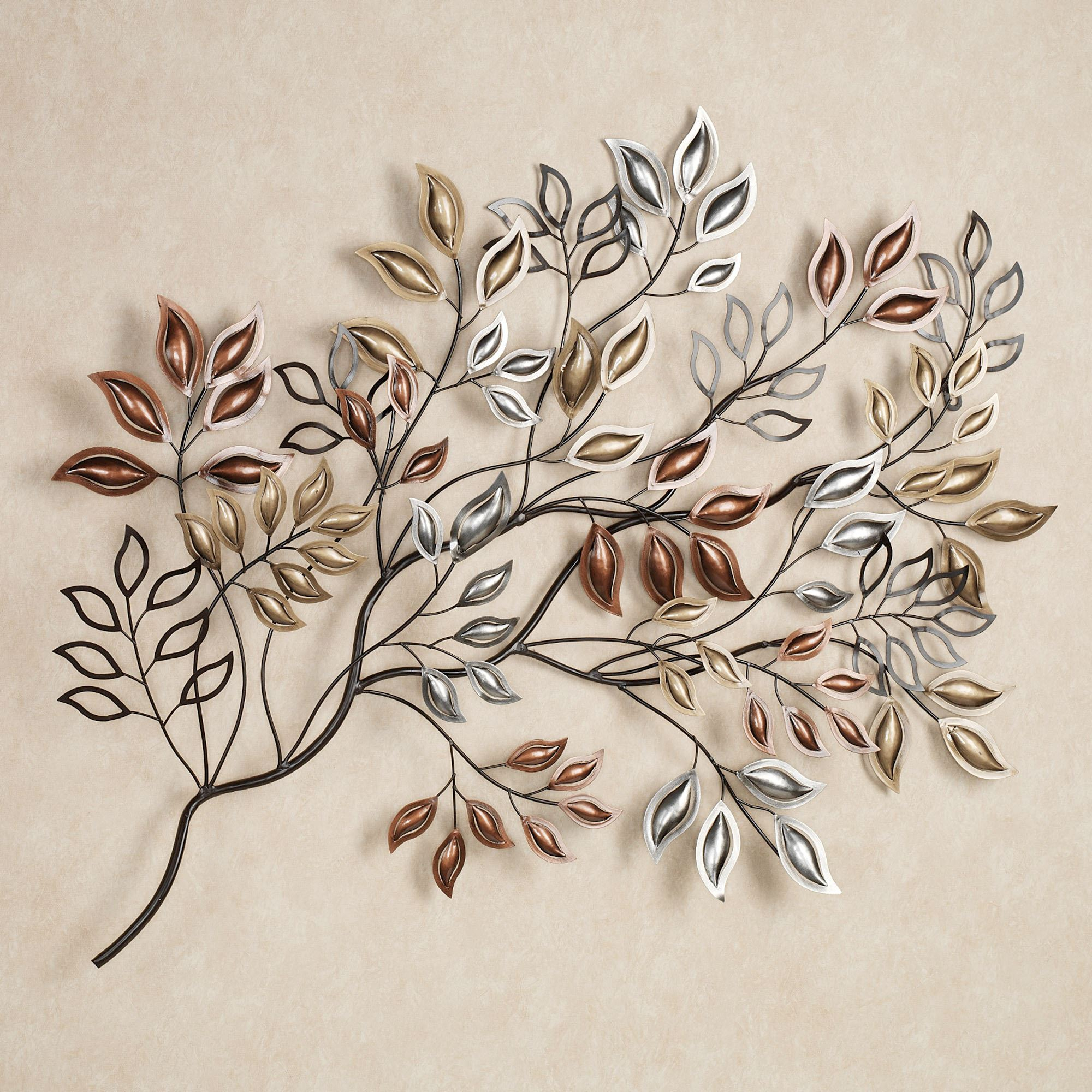Featured Photo of Leaves Metal Sculpture Wall Decor