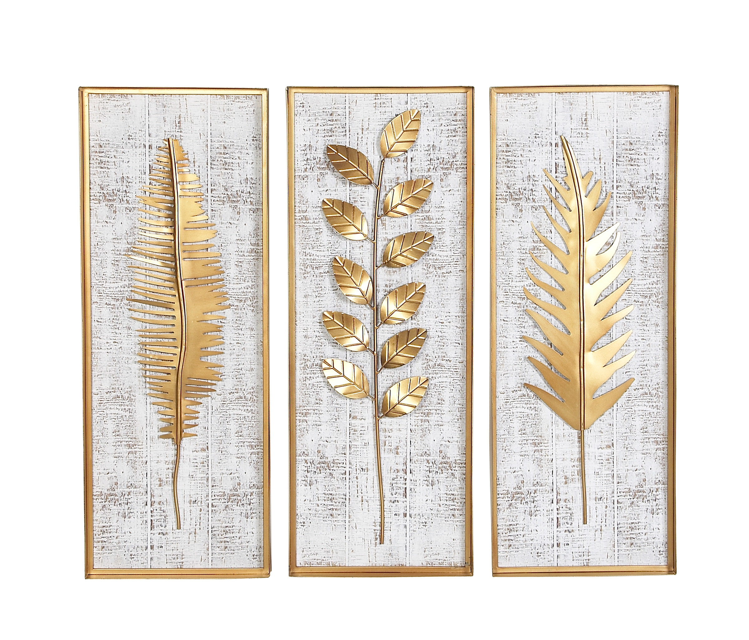 Goodfellow 3 Piece Rectangular Metal Wall Decor Set In 4 Piece Metal Wall Plaque Decor Sets (View 14 of 30)
