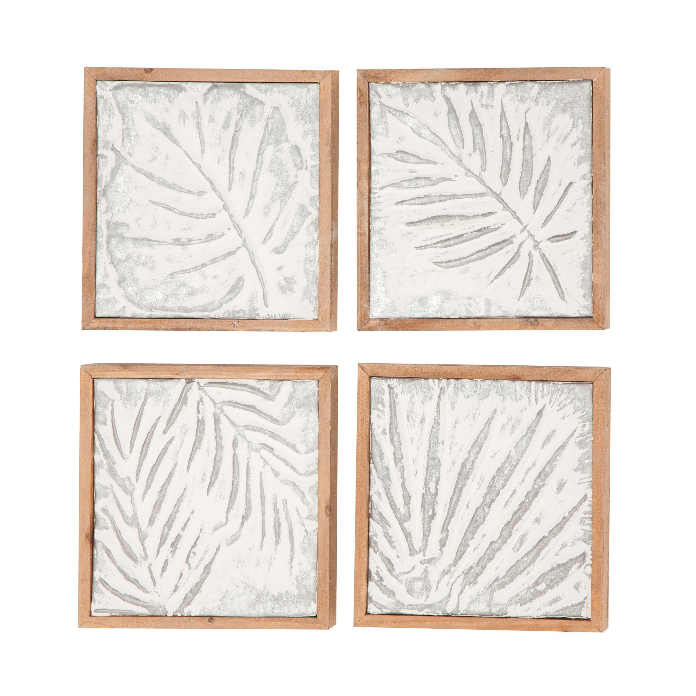 Goodfellow 4 Piece Wood Leaf Wall Decor Set Inside 4 Piece Wall Decor Sets (View 15 of 30)