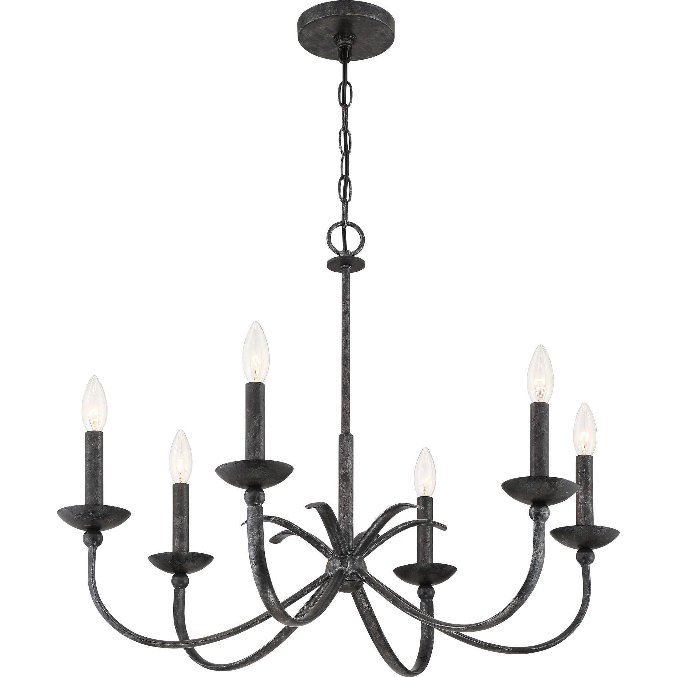 Goodin 6-Light Candle Style Chandelier with Shaylee 5-Light Candle Style Chandeliers (Image 6 of 30)