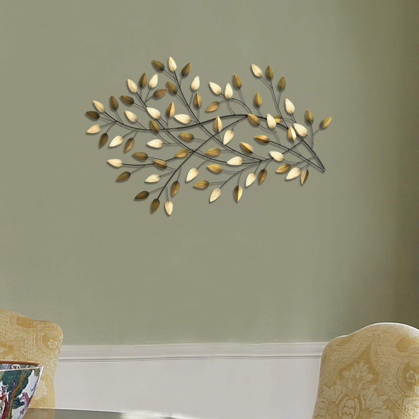 Gorgeous Blowing Leaves Wall Décor With Regard To Leaves Metal Sculpture Wall Decor By Winston Porter (View 13 of 30)