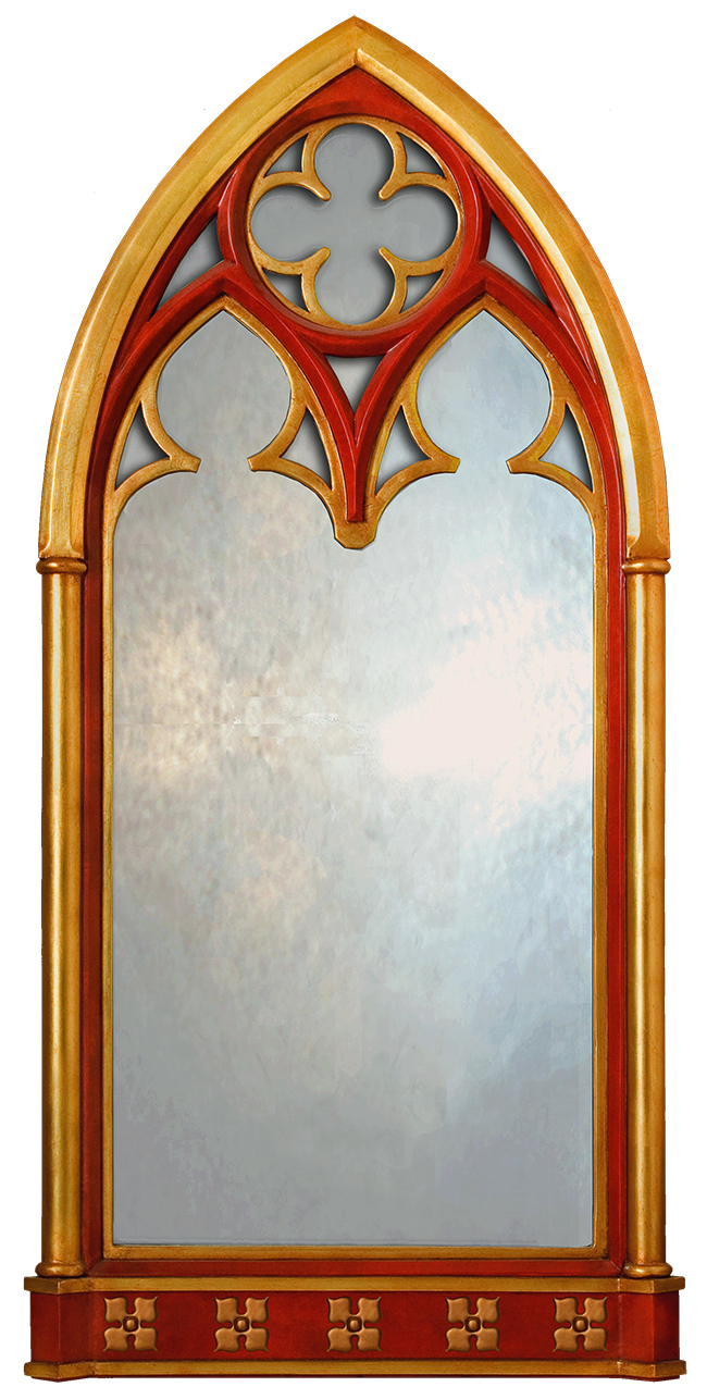 Gothic Window Mirror – Large Gothic Mirror Uk – Gothic Wall Inside Gold Arch Wall Mirrors (View 16 of 30)