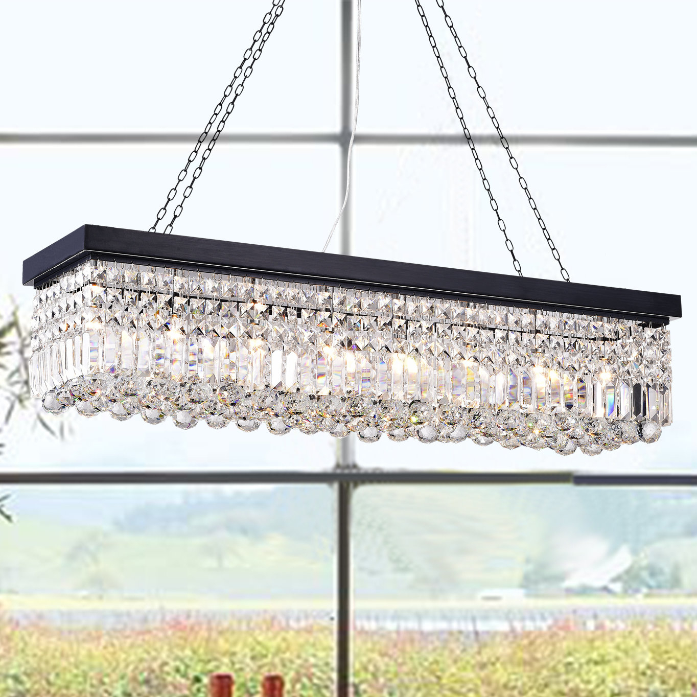 Gracelyn 8 Light Kitchen Island Pendant Pertaining To Neal 5 Light Kitchen Island Teardrop Pendants (View 15 of 30)