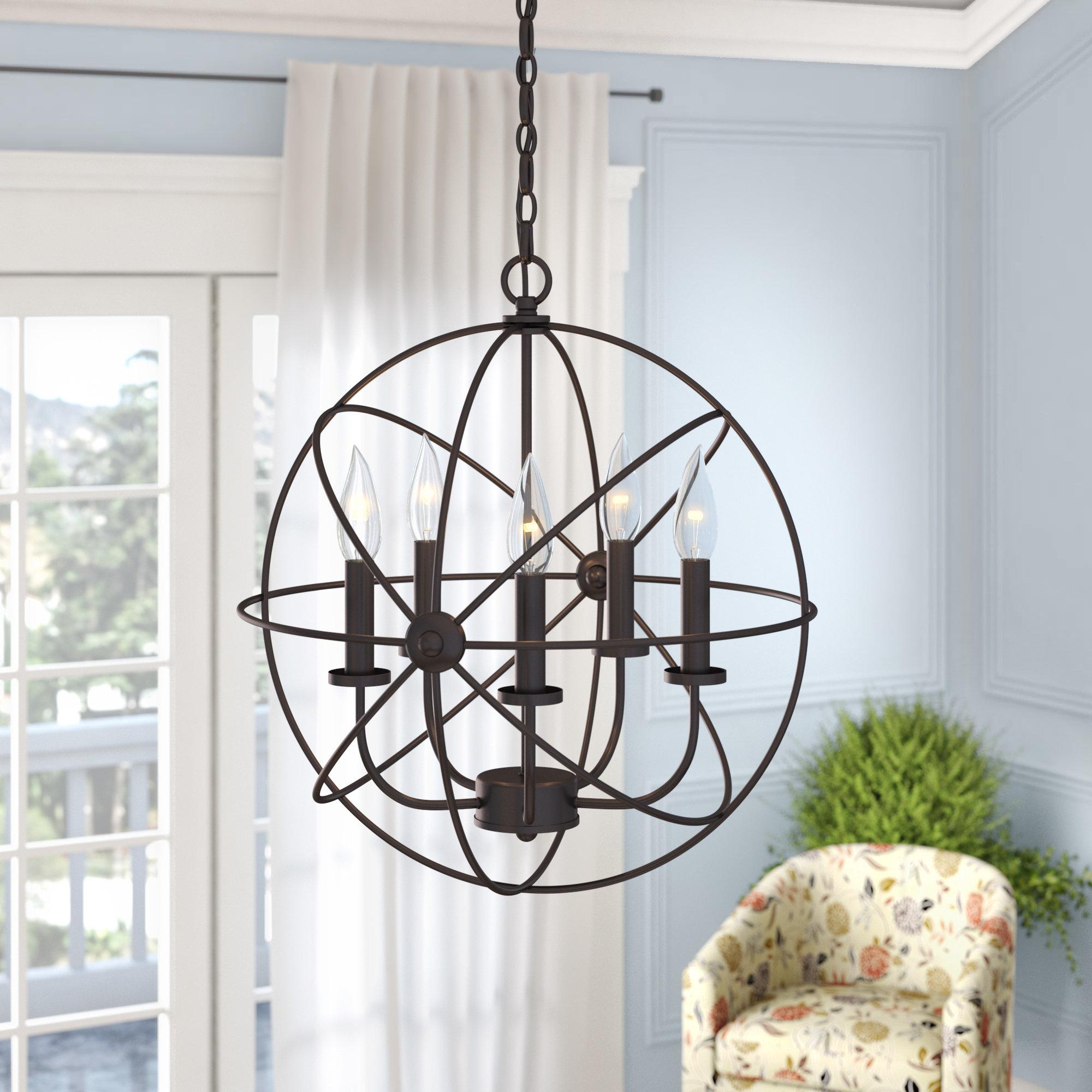 Gracie Oaks Caius 5-Light Globe Chandelier | Wayfair.ca intended for Waldron 5-Light Globe Chandeliers (Image 11 of 30)
