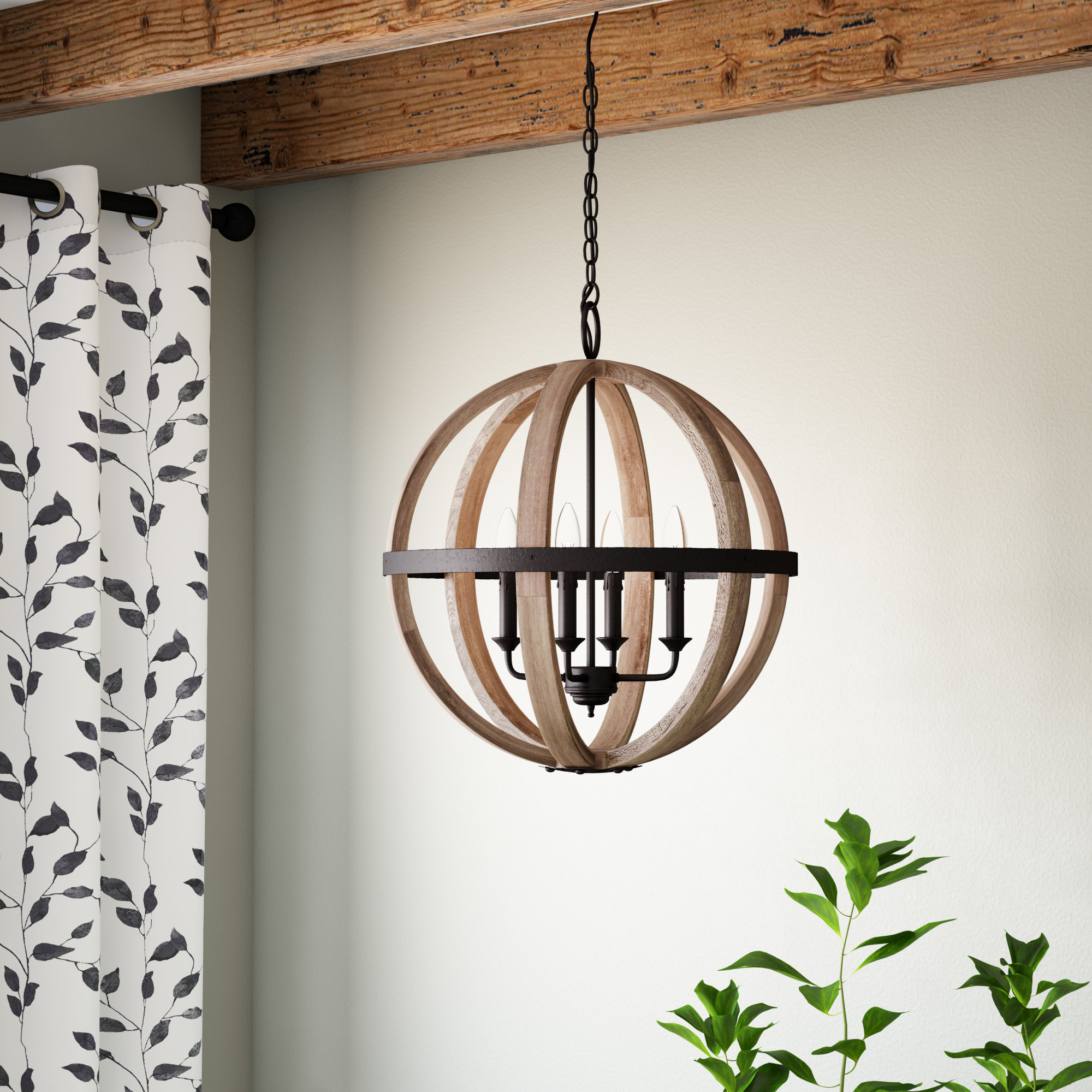 Gracie Oaks Caley 4-Light Globe Chandelier & Reviews | Wayfair pertaining to Joon 6-Light Globe Chandeliers (Image 8 of 30)