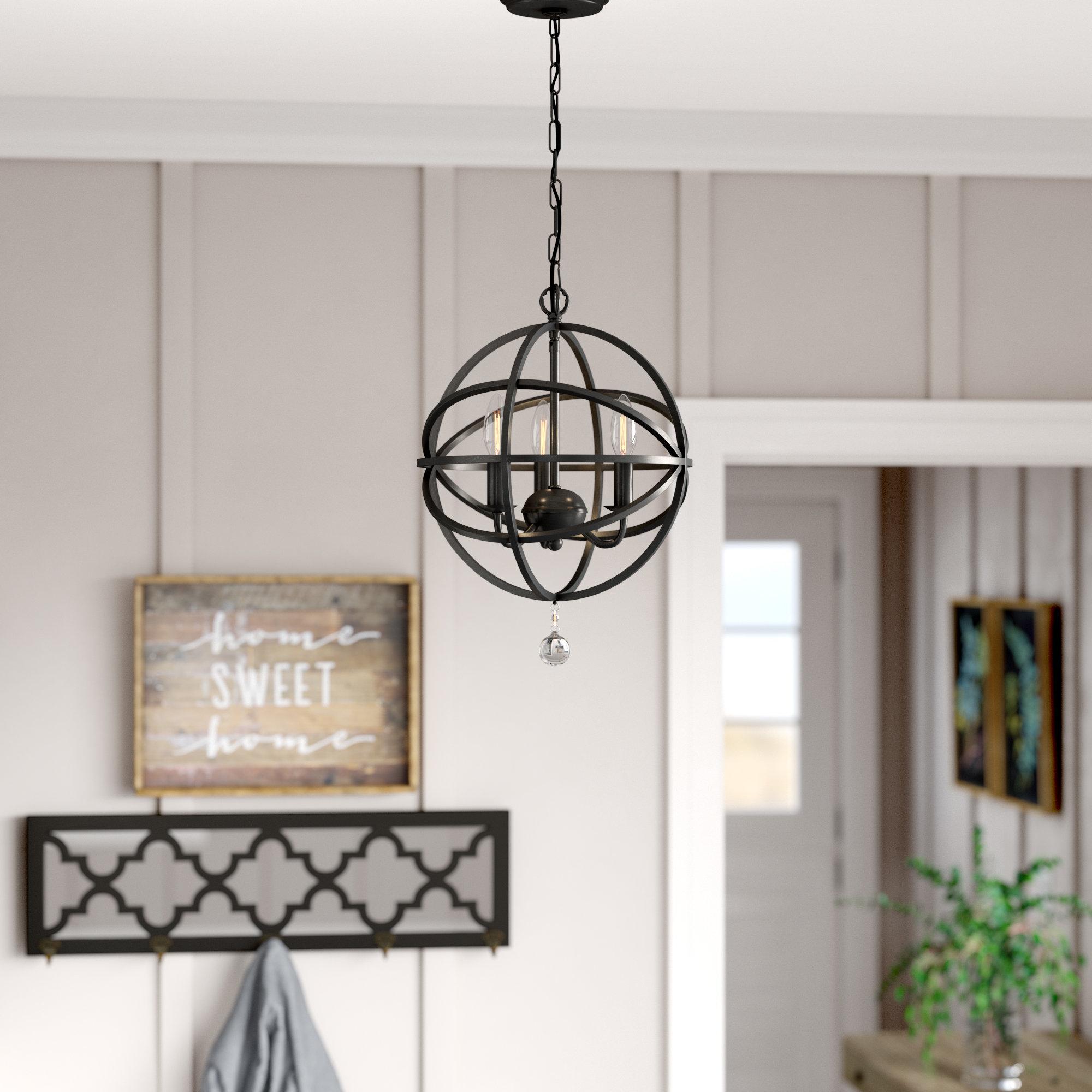 Gracie Oaks Eastcote 3-Light Globe Chandelier & Reviews for Shipststour 3-Light Globe Chandeliers (Image 16 of 30)