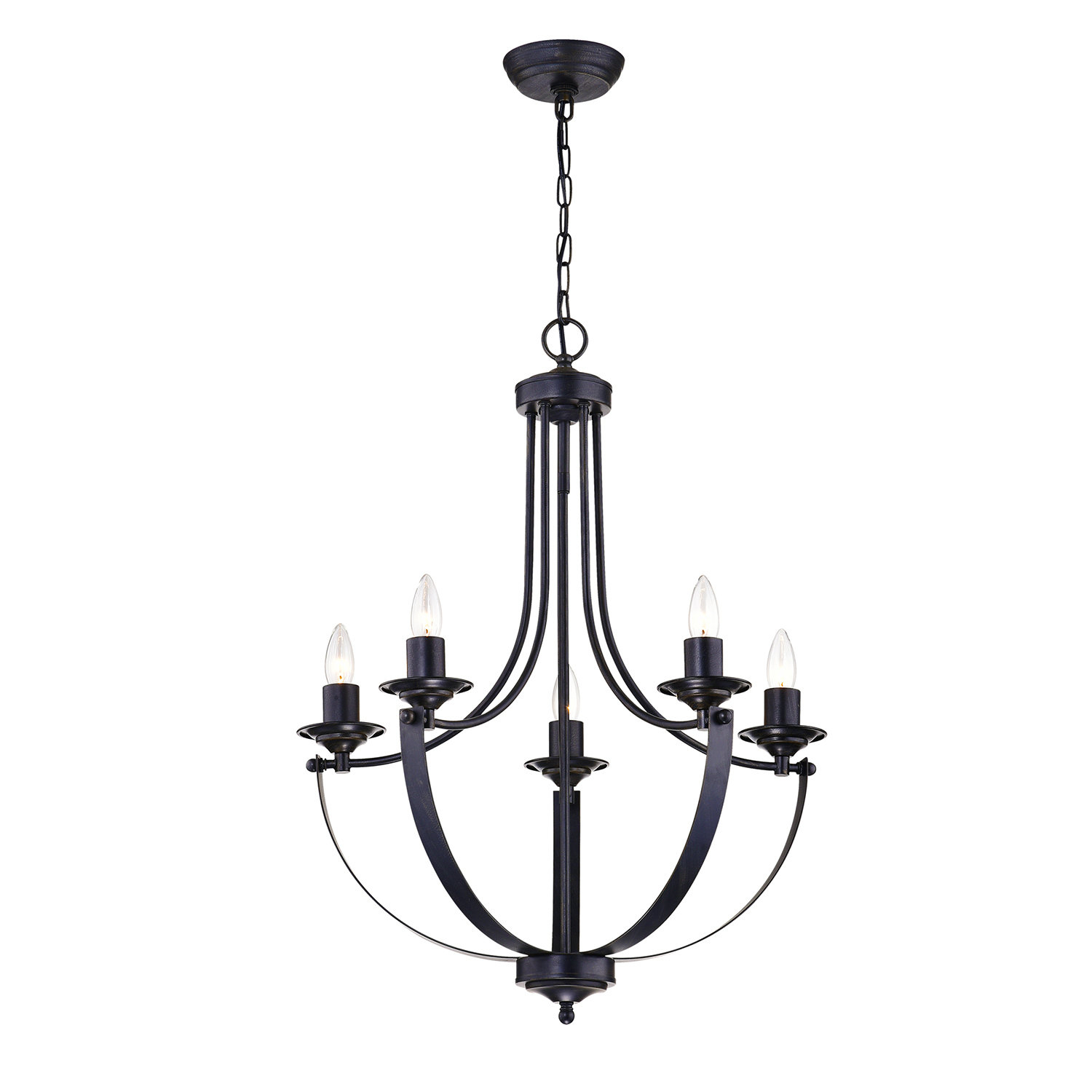 Gracie Oaks Kendal 5-Light Candle Style Chandelier & Reviews with Shaylee 5-Light Candle Style Chandeliers (Image 7 of 30)