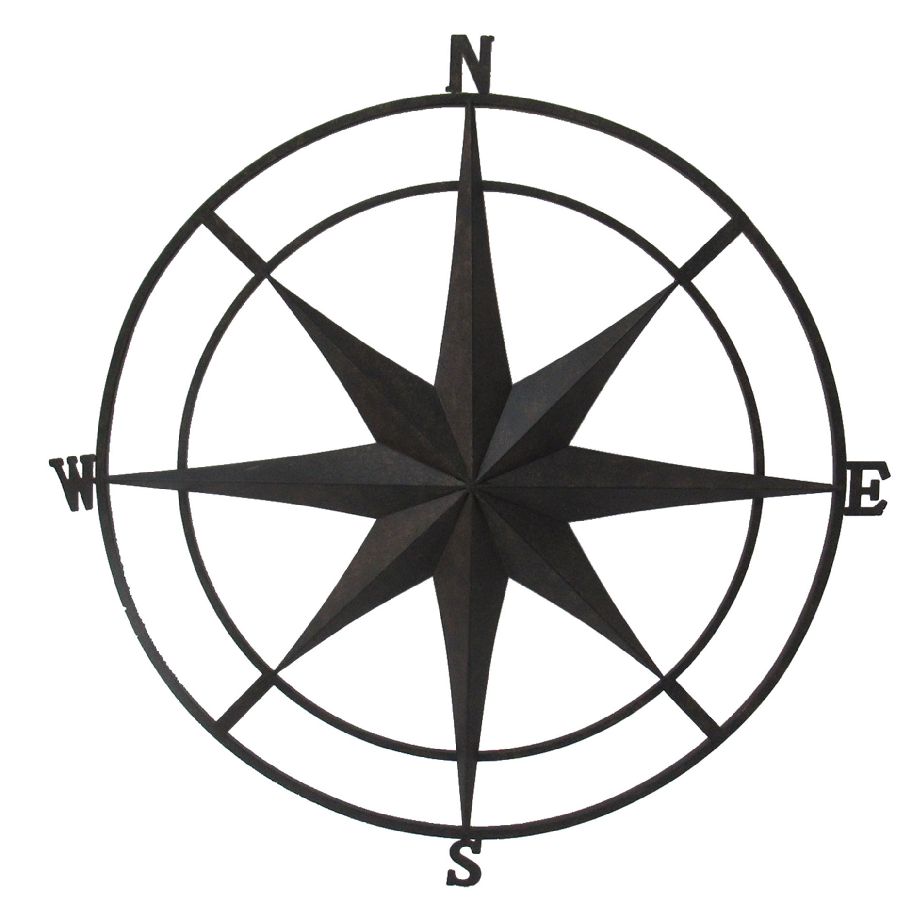 Gracie Oaks Outdoor Metal Wall Compass & Reviews | Wayfair with regard to Outdoor Metal Wall Compass (Image 21 of 30)