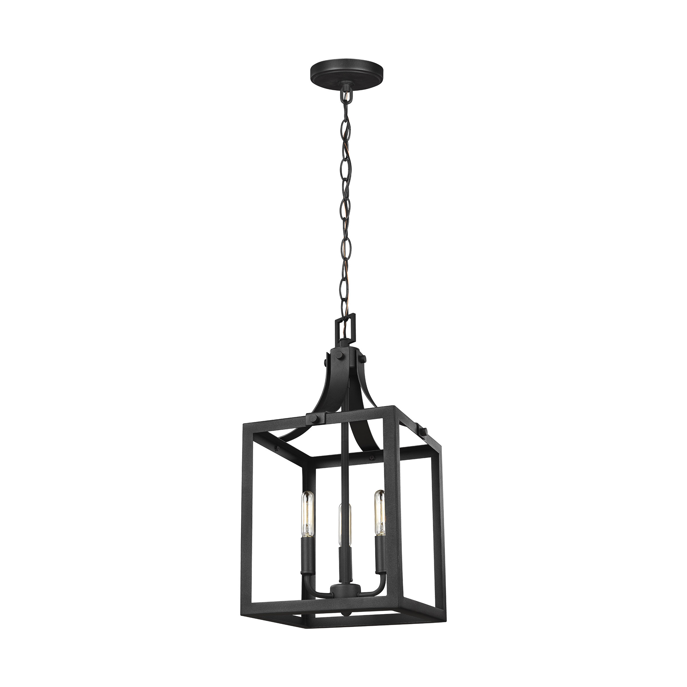 Gracie Oaks Sherri Ann 3 Light Lantern Square / Rectangle Pendant Pertaining To Odie 8 Light Lantern Square / Rectangle Pendants (View 10 of 30)