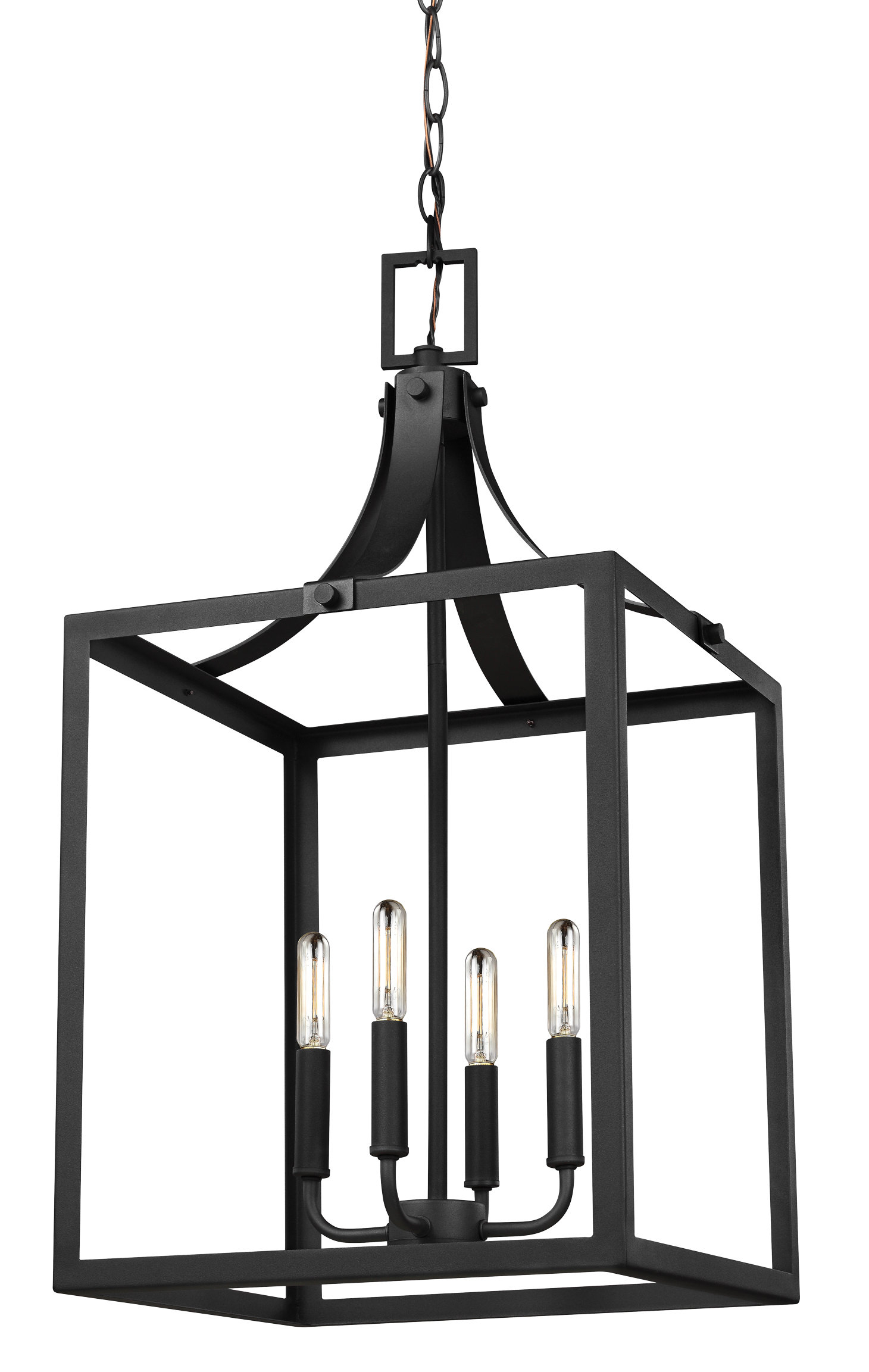 Gracie Oaks Sherri Ann 4 Light Lantern Square / Rectangle Pendant With Regard To Odie 8 Light Lantern Square / Rectangle Pendants (View 11 of 30)
