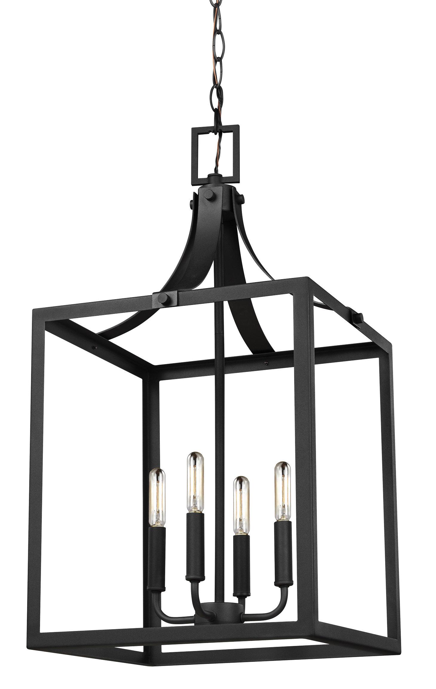 Gracie Oaks Sherri-Ann 4-Light Lantern Square / Rectangle Pendant with regard to Odie 8-Light Lantern Square / Rectangle Pendants (Image 11 of 30)