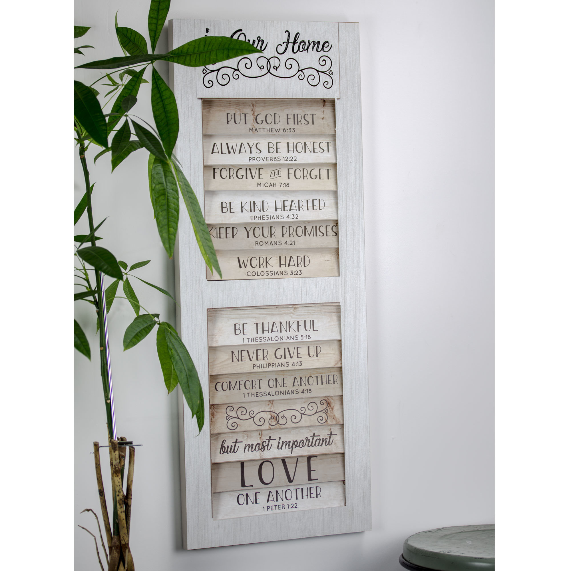 Popular Photo of Shutter Window Hanging Wall Decor