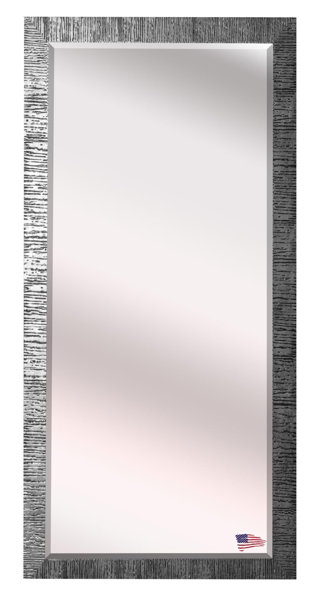 Grain Texture Modern & Contemporary Beveled Wall Mirror with regard to Modern & Contemporary Beveled Wall Mirrors (Image 15 of 30)