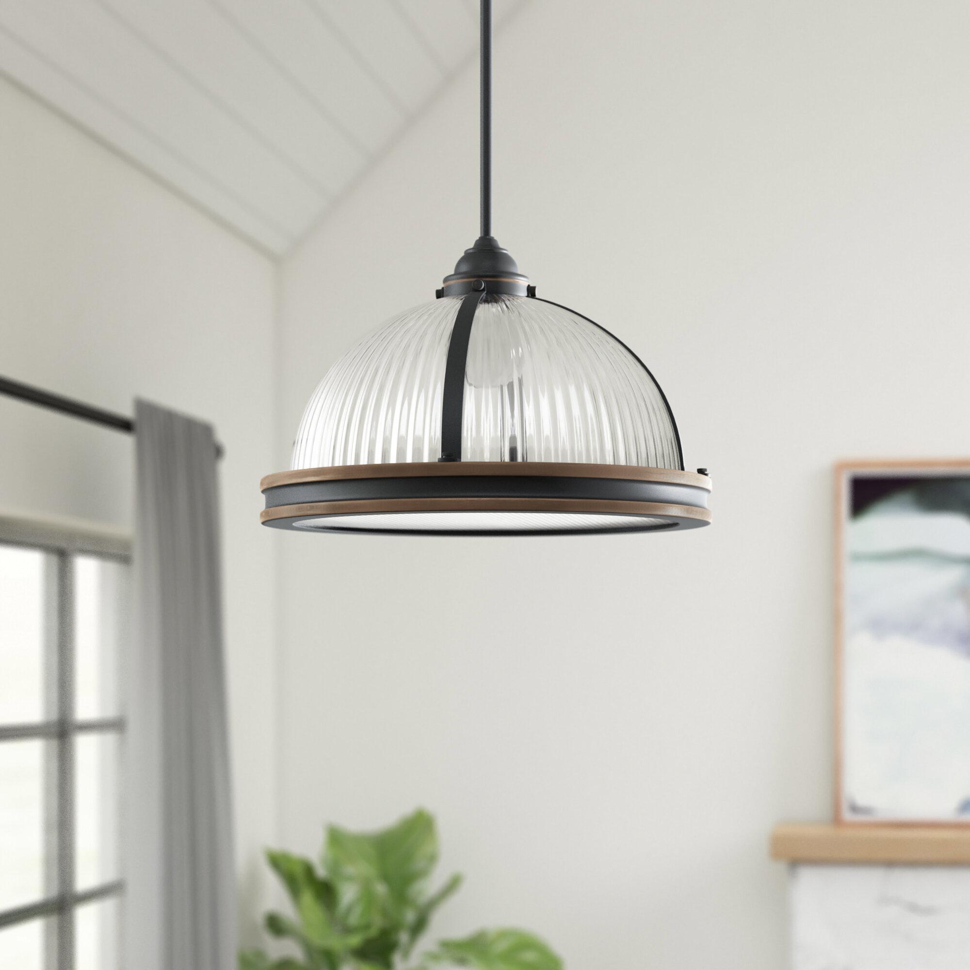 Granville 3-Light Single Dome Pendant in Macon 1-Light Single Dome Pendants (Image 16 of 30)