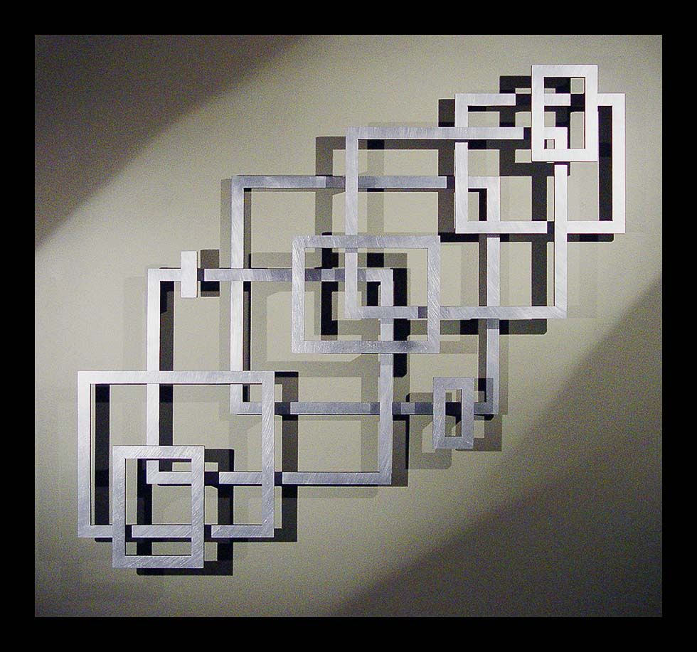 Great Layout Inspiration For A Geometric Empty Frame Collage throughout Contemporary Geometric Wall Decor (Image 17 of 30)