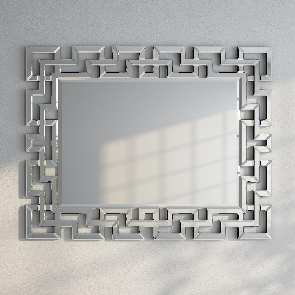 Greek Key Motif Mirror In 2019 | Products | Greek Decor Inside Caja Rectangle Glass Frame Wall Mirrors (View 12 of 30)