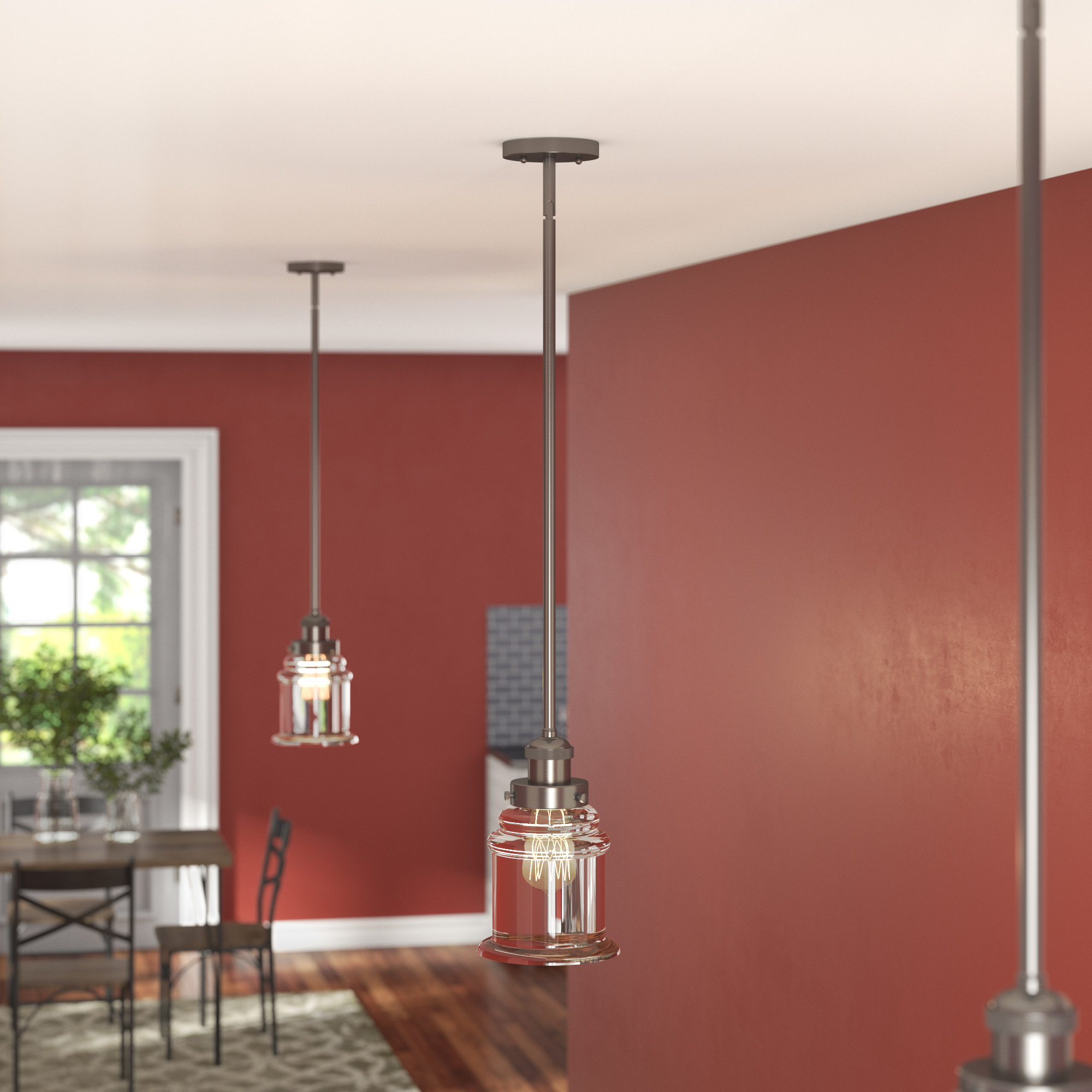 Greeley 1 Light Single Bell Pendant For Bryker 1 Light Single Bulb Pendants (View 16 of 30)