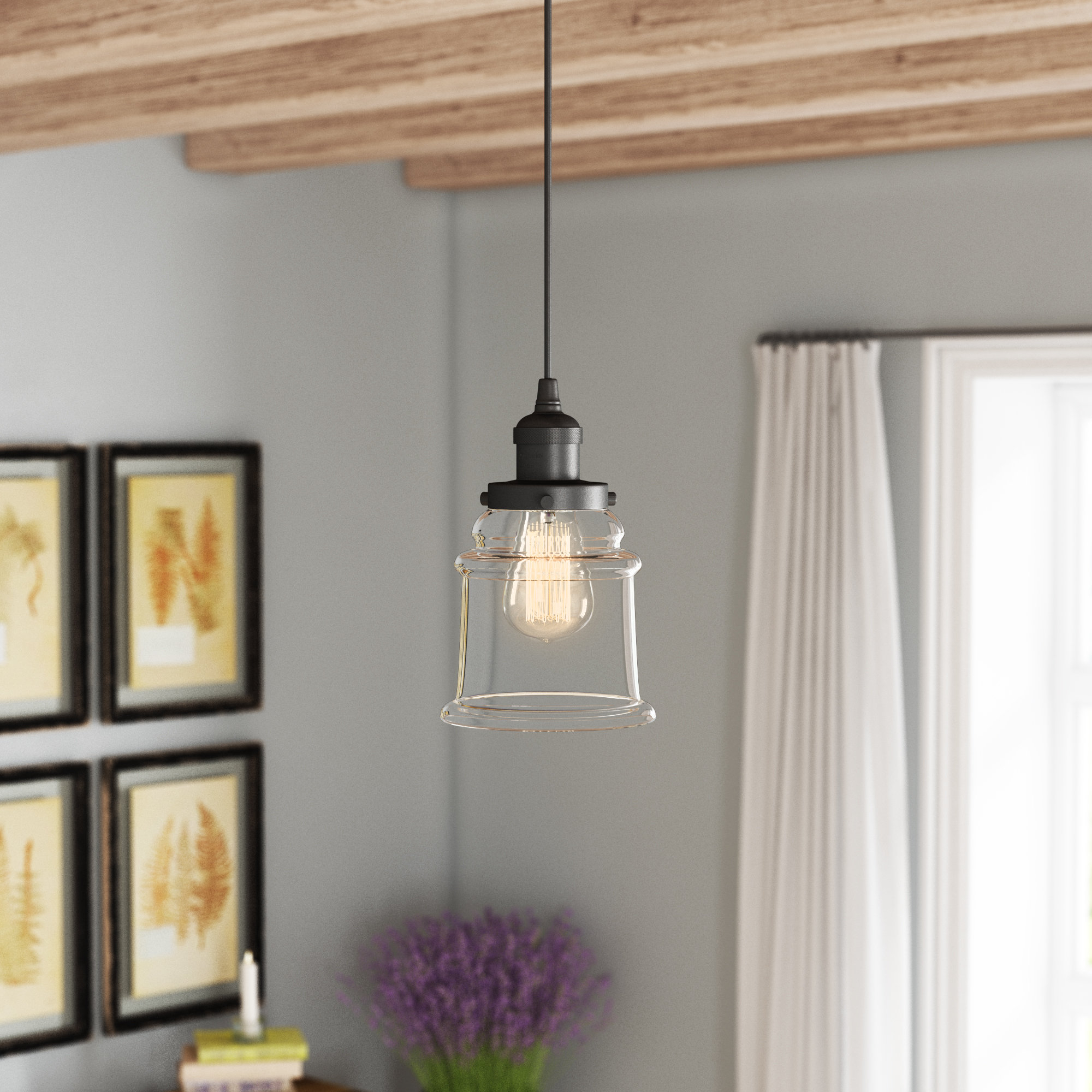Greeley 1 Light Single Bell Pendant For Sargent 1 Light Single Bell Pendants (View 13 of 30)