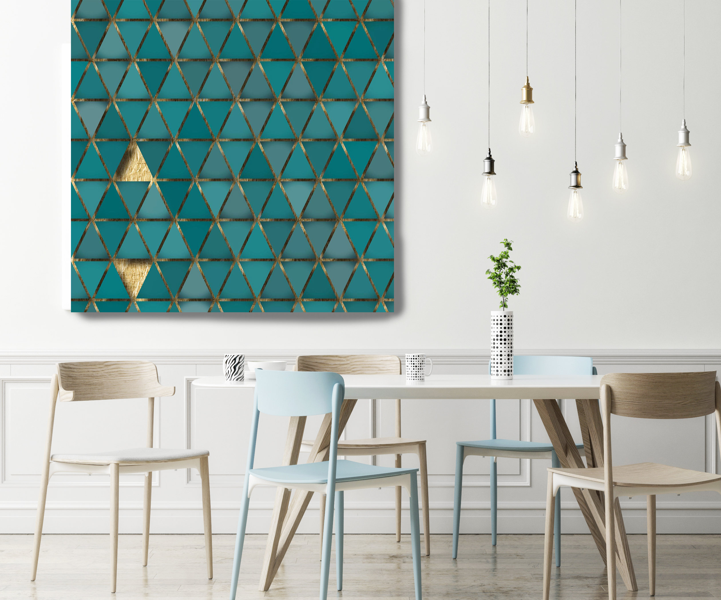 Green And Gold 2, Extra Large Industrial Geometrical Green in Large Modern Industrial Wall Decor (Image 8 of 30)