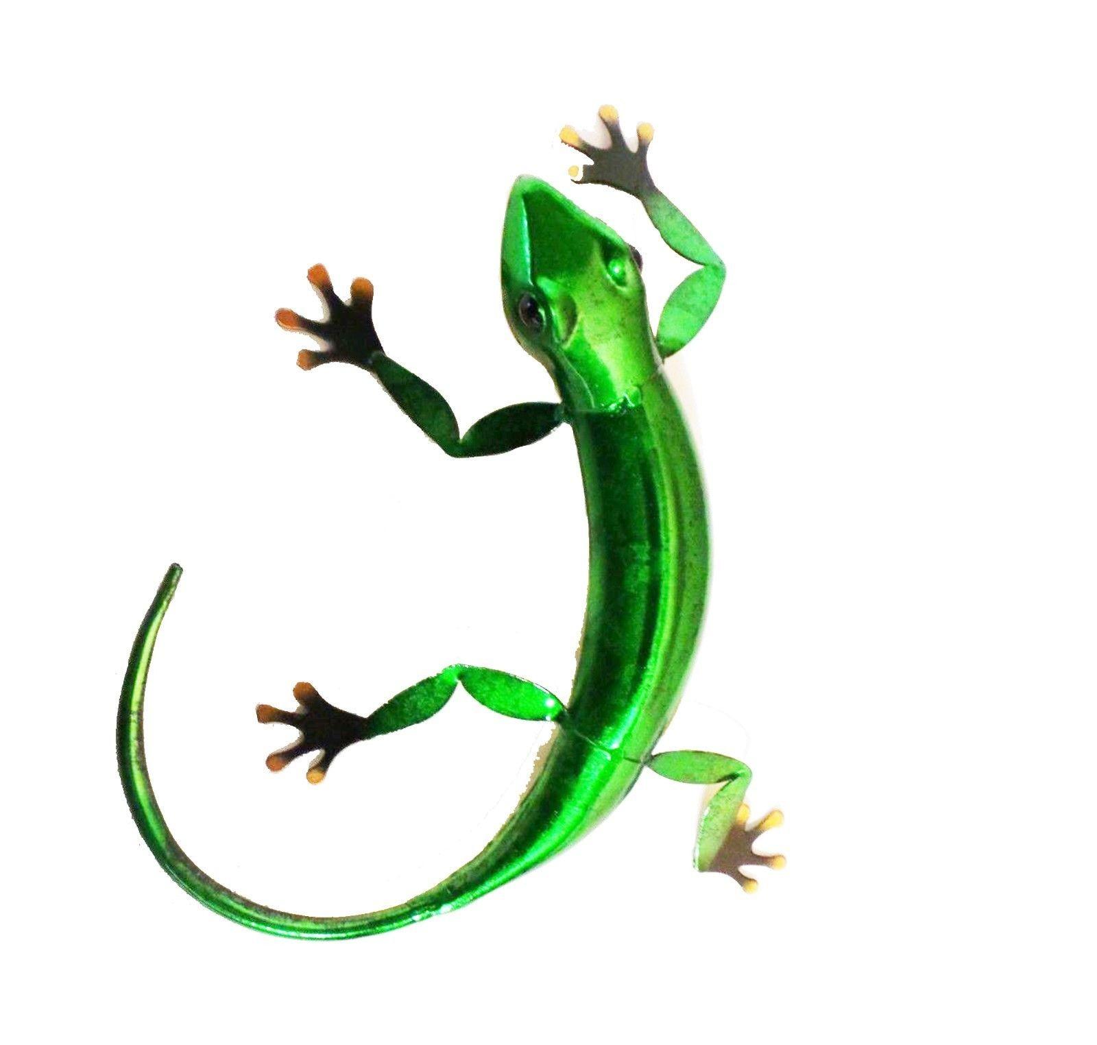 Green Metal Gecko Lizard Wall Art Ornament – Moles Garden Store Throughout Gecko Wall Decor (View 10 of 30)