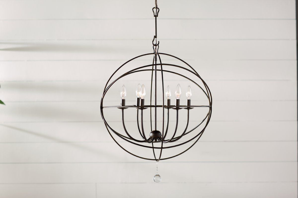 Gregoire 6 Light Globe Chandelier   Core Selection Throughout Alden 6 Light Globe Chandeliers (View 19 of 30)