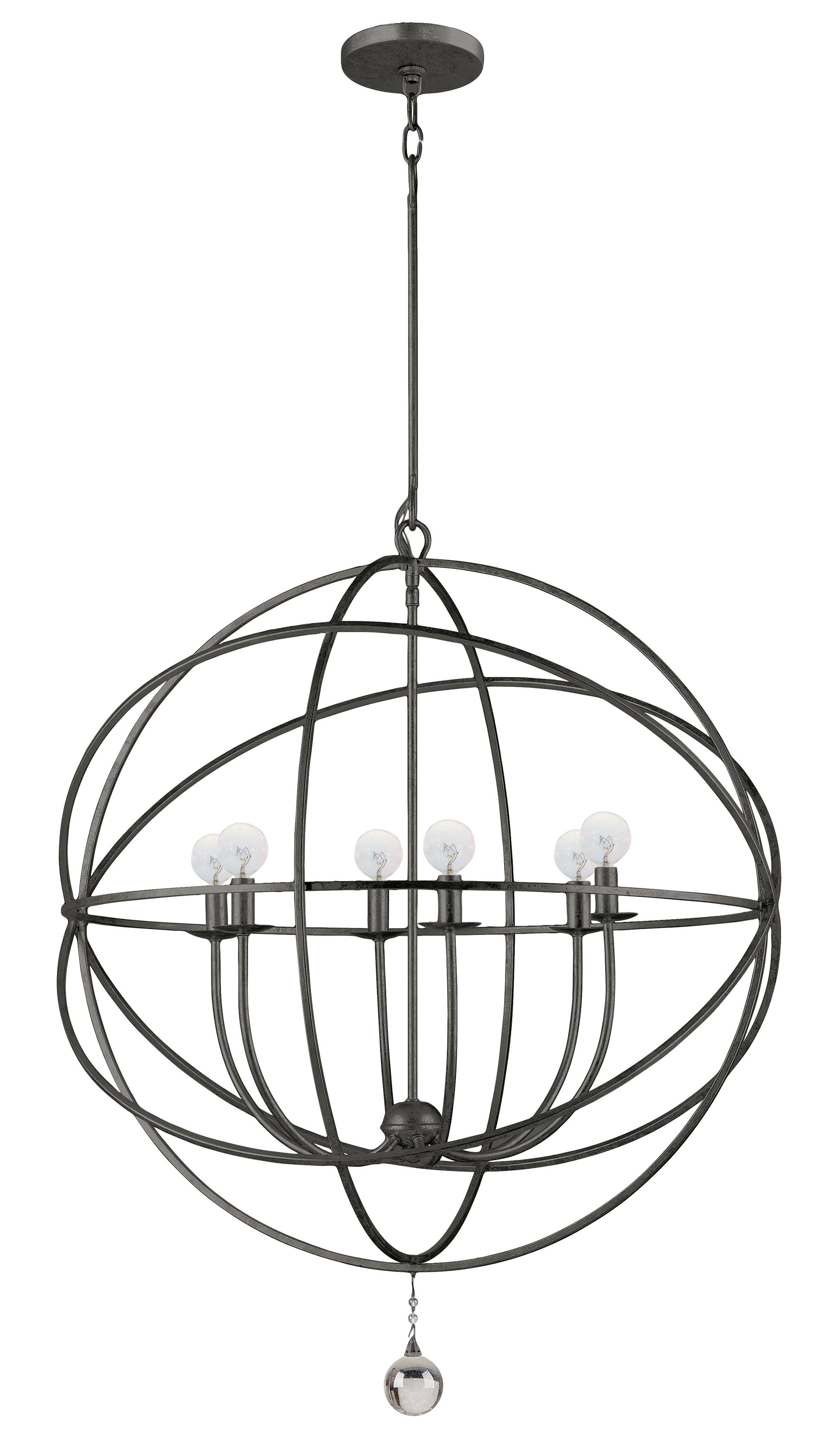 Gregoire 6 Light Globe Chandelier Intended For Alden 6 Light Globe Chandeliers (View 23 of 30)