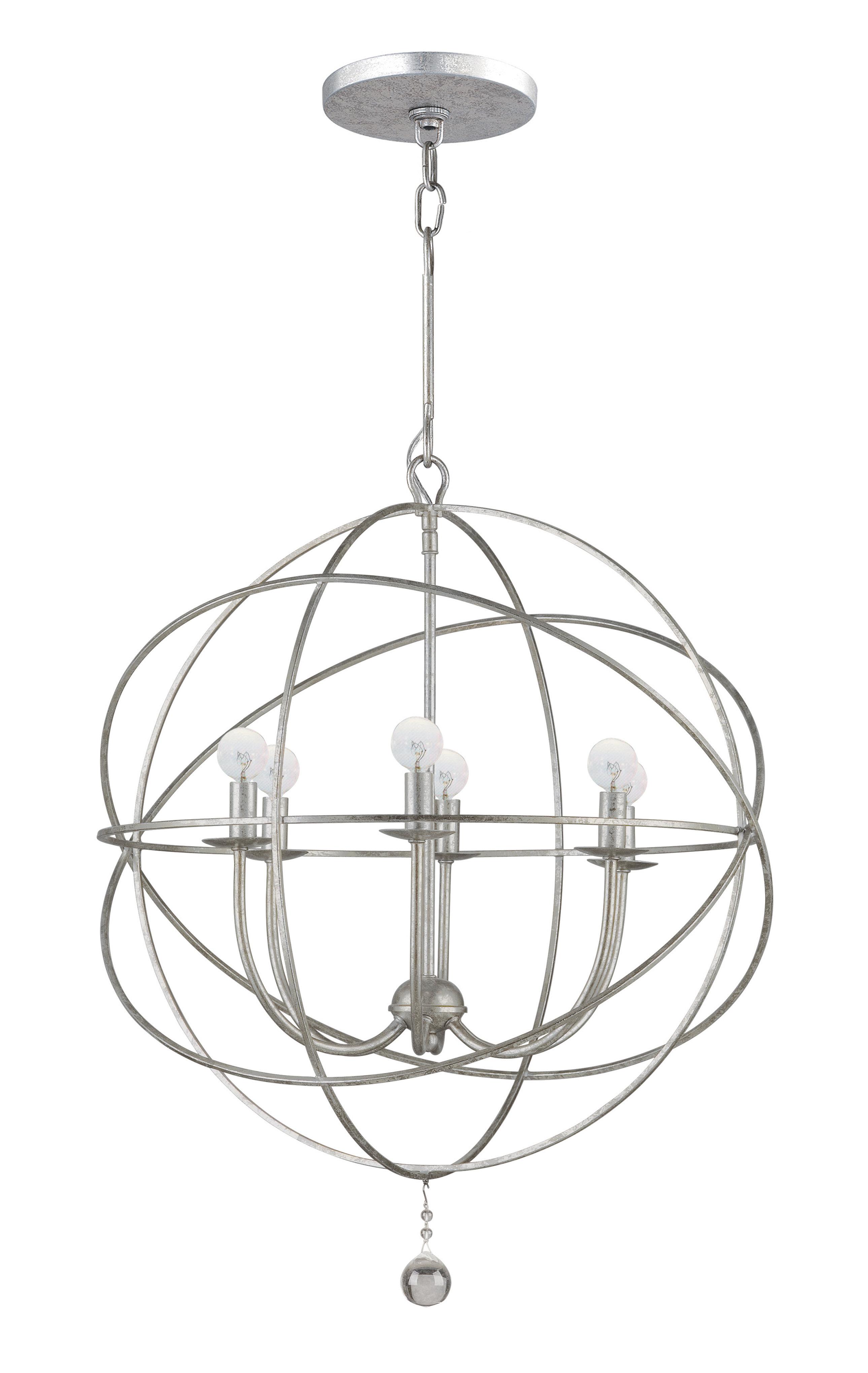 Gregoire 6 Light Globe Chandelier Intended For Alden 6 Light Globe Chandeliers (View 21 of 30)